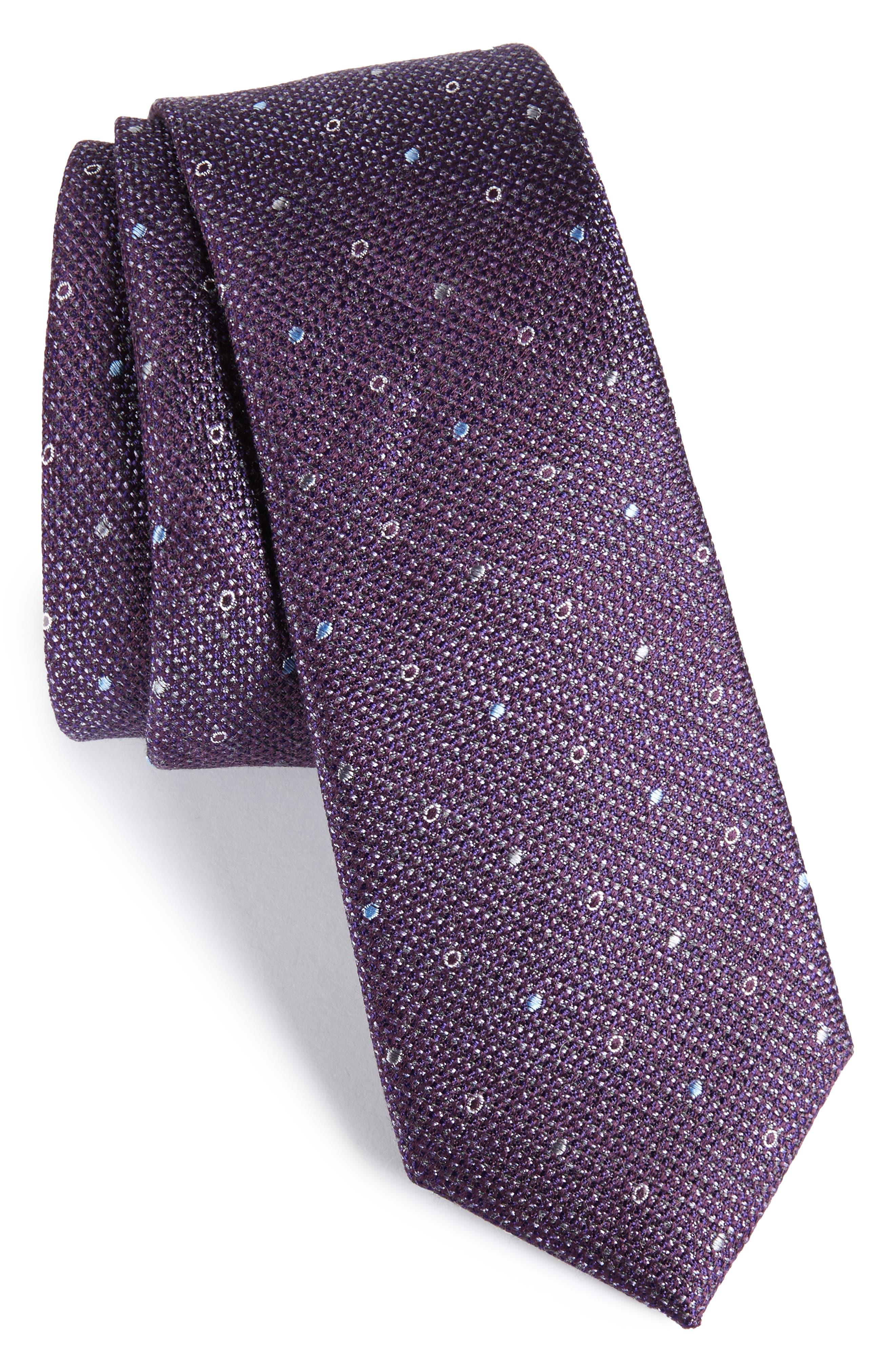 Brubeck Neat Silk Blend Tie,                             Main thumbnail 6, color,