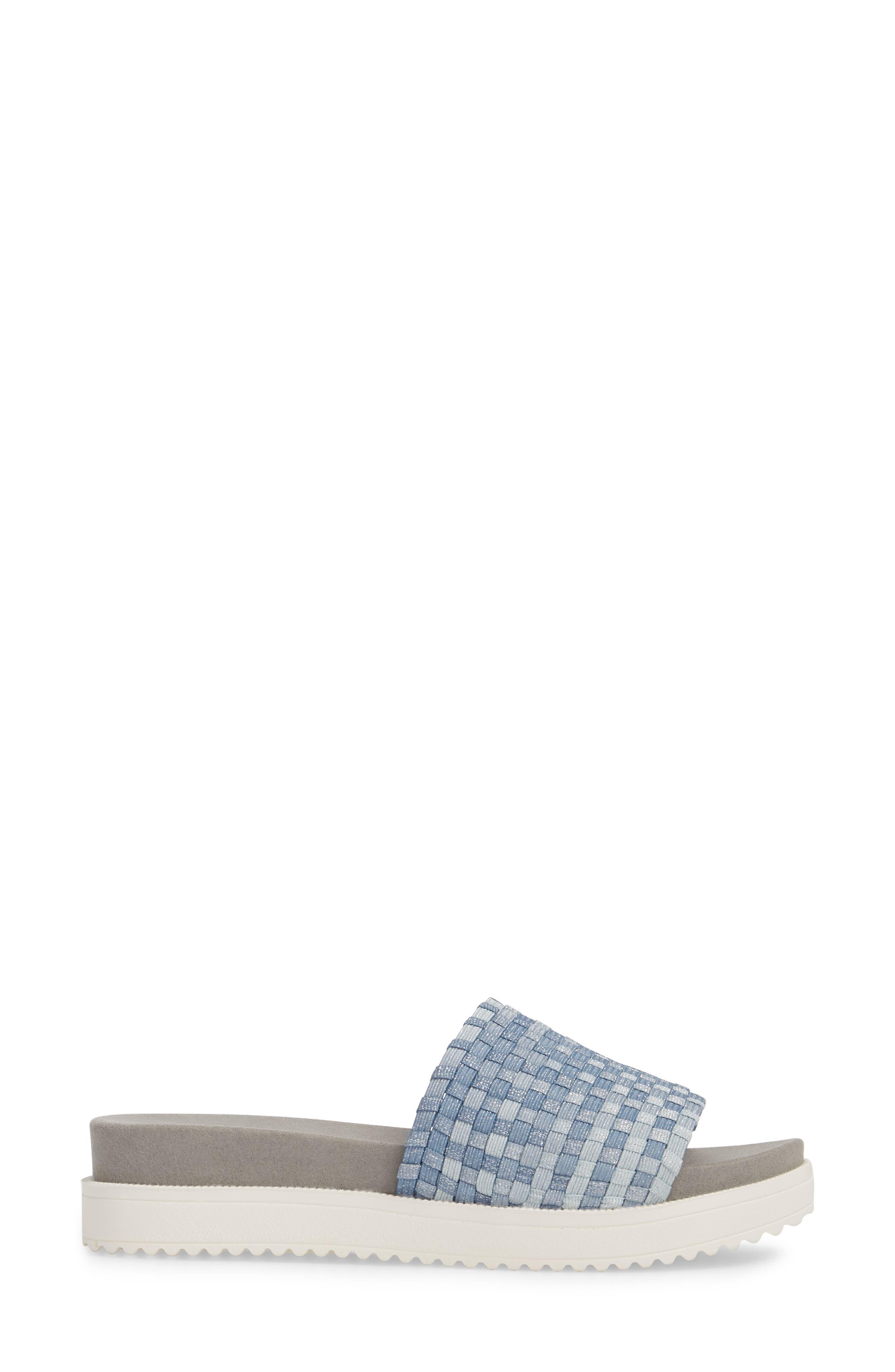 BERNIE MEV.,                             Capri Slide Sandal,                             Alternate thumbnail 3, color,                             CLOUD SHIMMER FABRIC