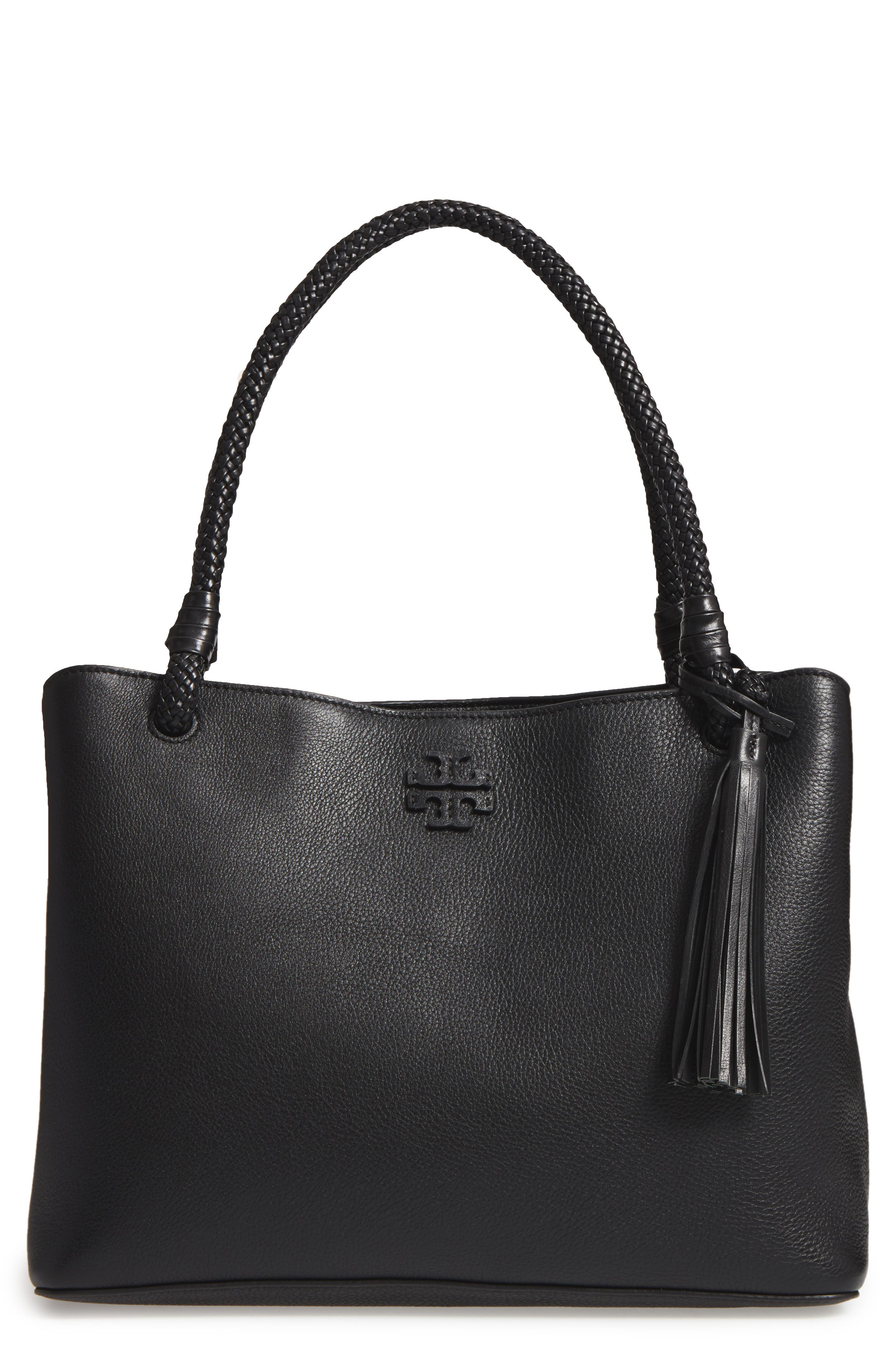 Taylor Triple-Compartment Leather Tote, Main, color, 001