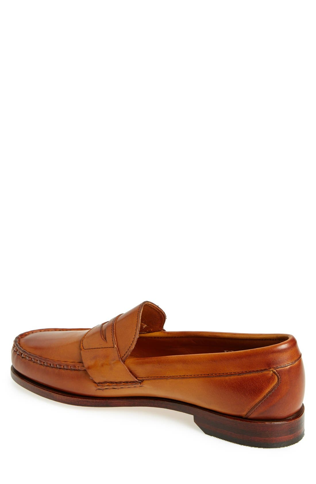 'Cavanaugh' Penny Loafer,                             Alternate thumbnail 2, color,                             WALNUT LEATHER