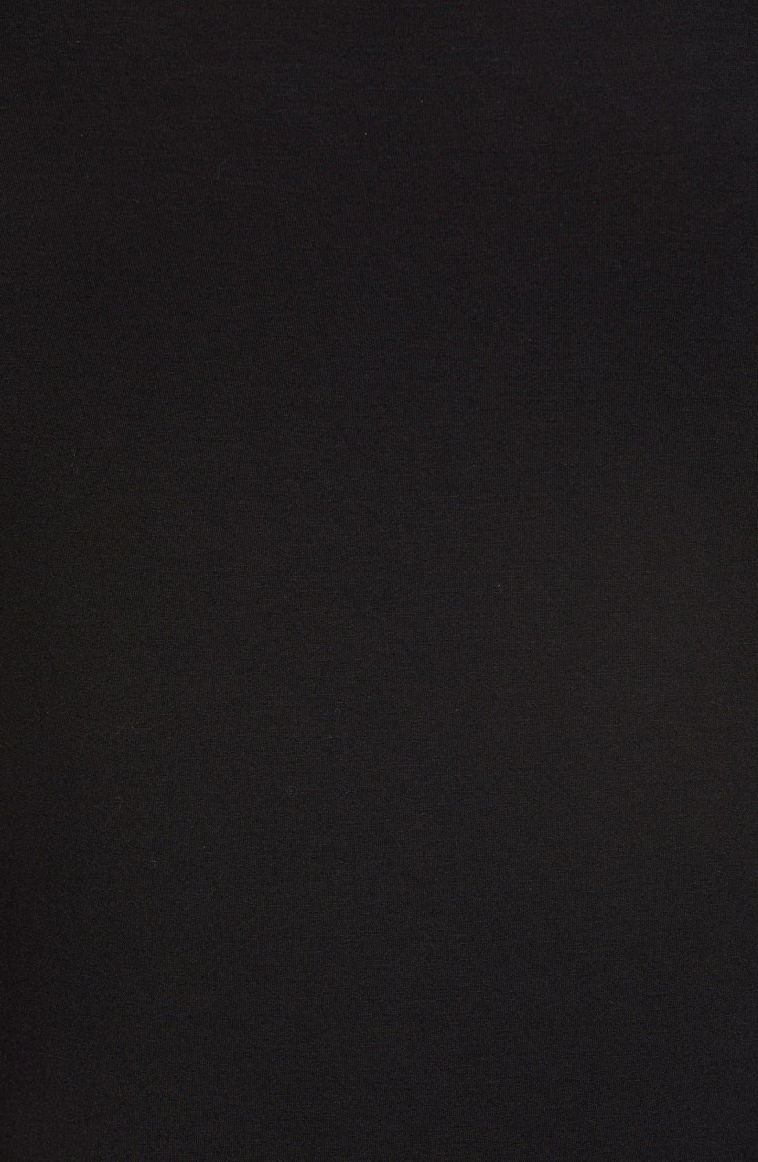 'Deneuve' Cold Shoulder Top,                             Alternate thumbnail 2, color,                             BLACK