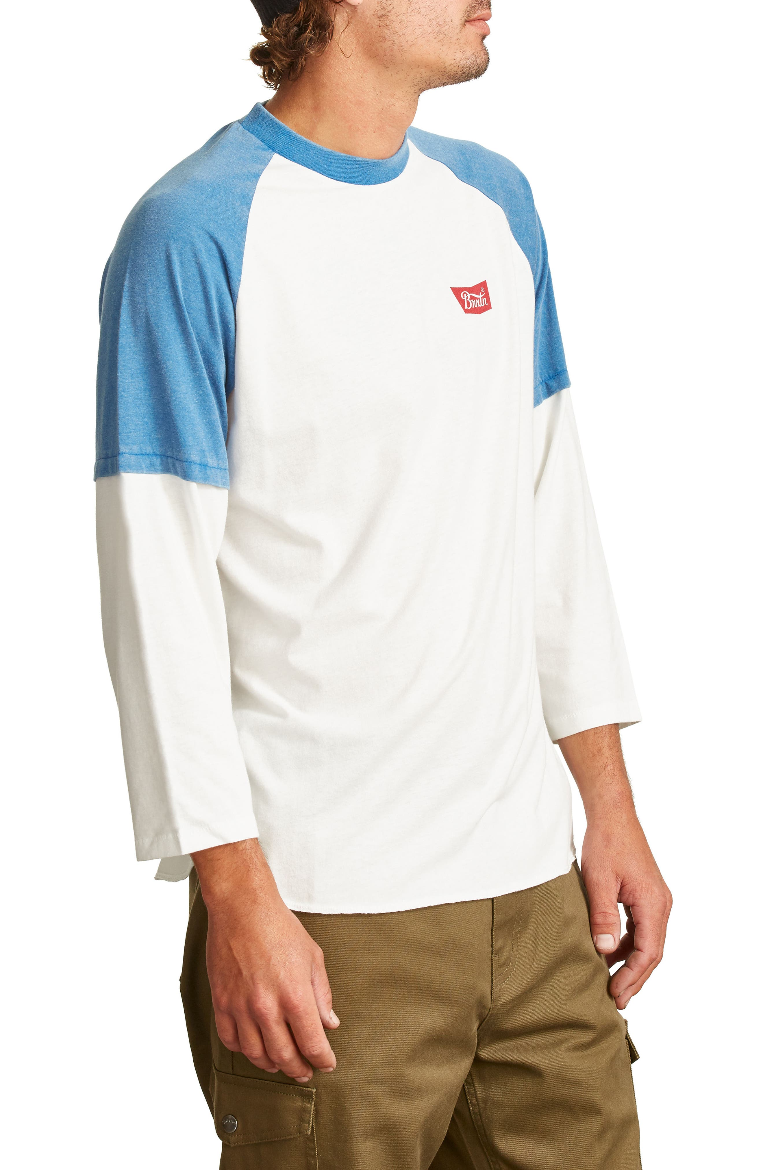 Layer Look Baseball T-Shirt,                             Alternate thumbnail 3, color,                             101