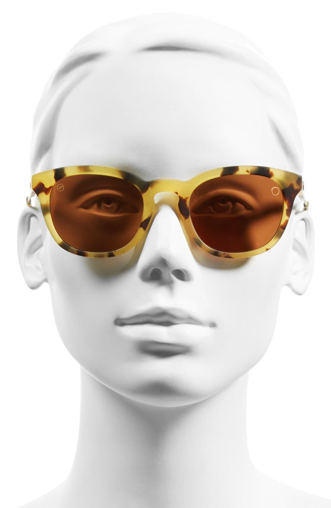 'Txoko' 50mm Sunglasses,                             Alternate thumbnail 2, color,                             MATTE SPOTTED TORTOISE/ BRONZE