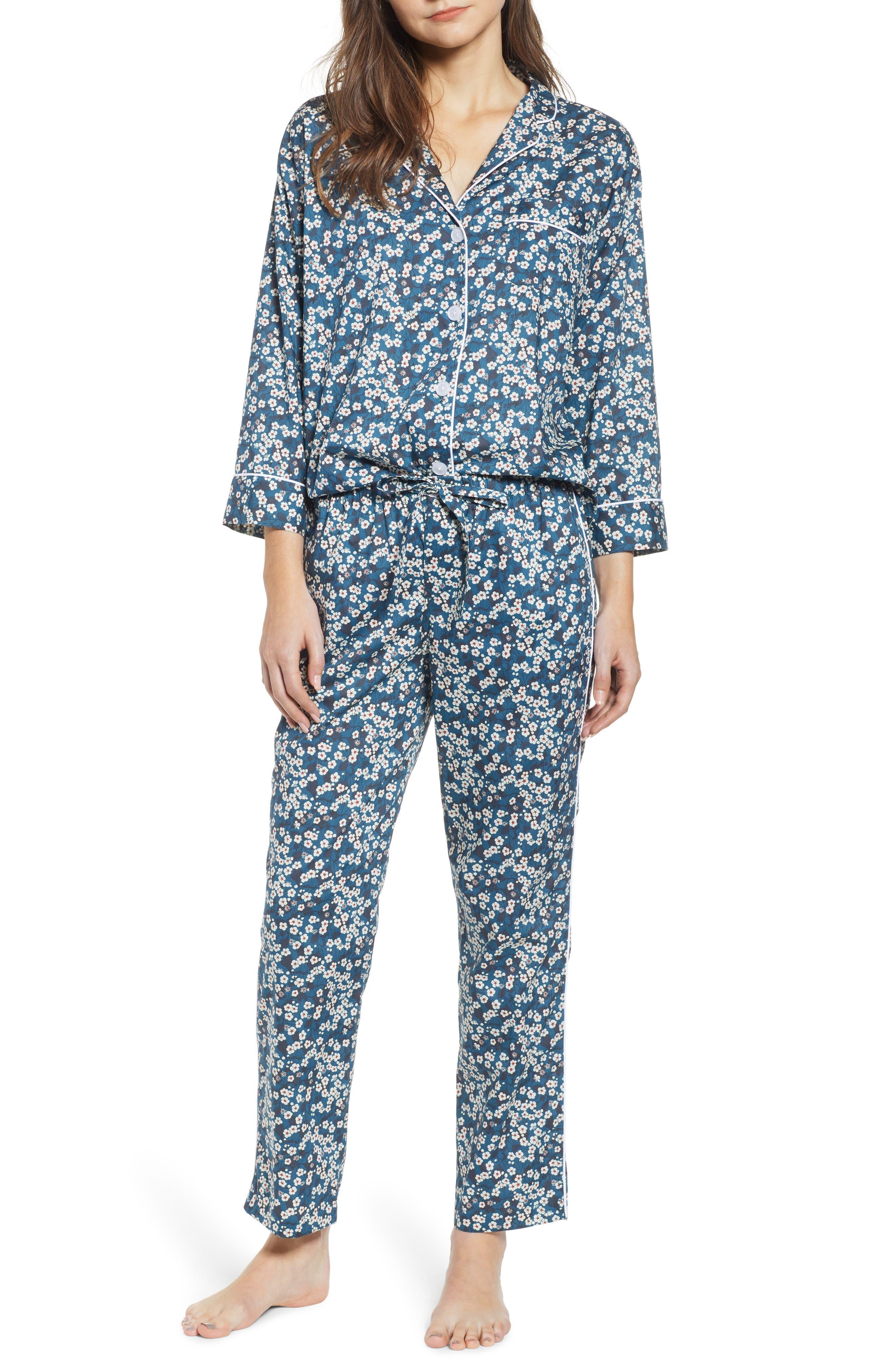 SLEEPY JONES Pajamas in Liberty Mitsy Wildflowers