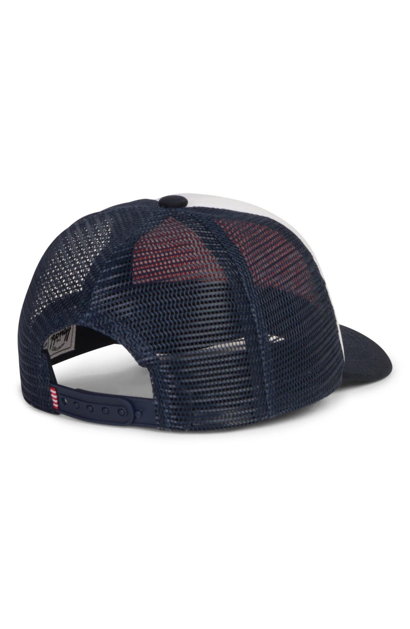 Sprout Whaler Mesh Hat,                             Alternate thumbnail 2, color,                             WHITE/ NAVY