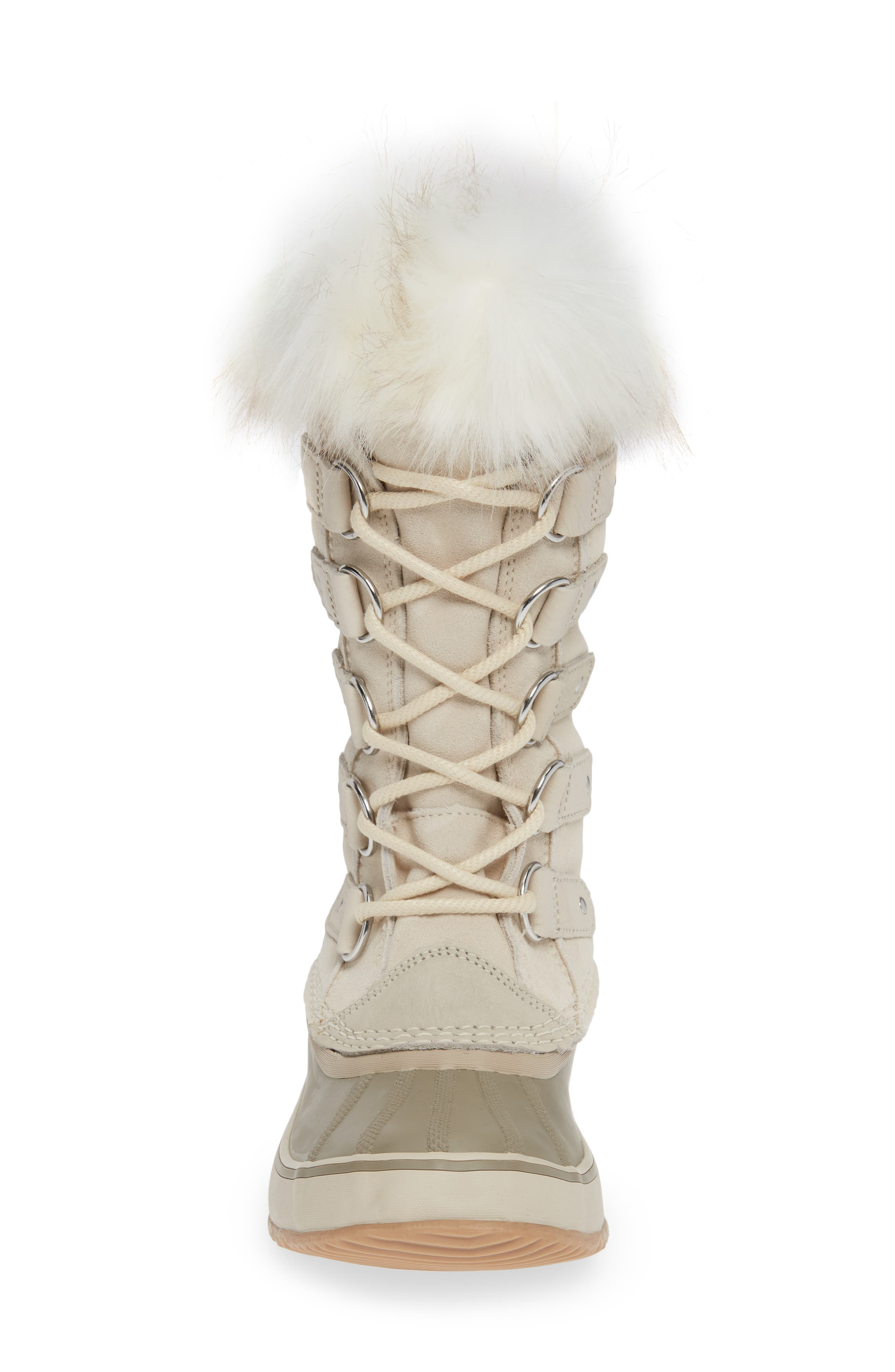 'Joan of Arctic' Waterproof Snow Boot,                             Alternate thumbnail 4, color,                             FAWN