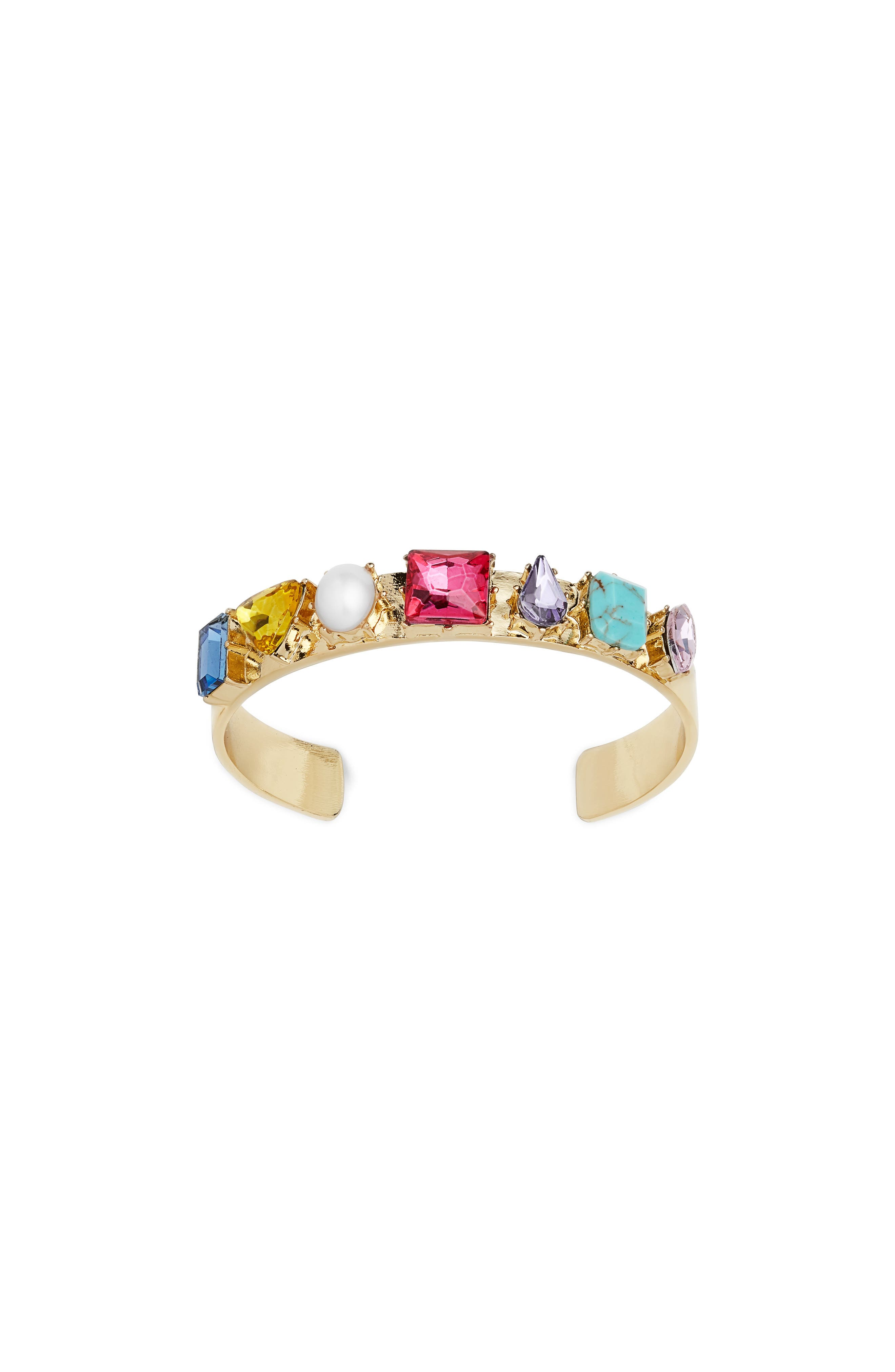 x Micaela Erlanger She's with the Band Cuff,                         Main,                         color, MULTI/ GOLD