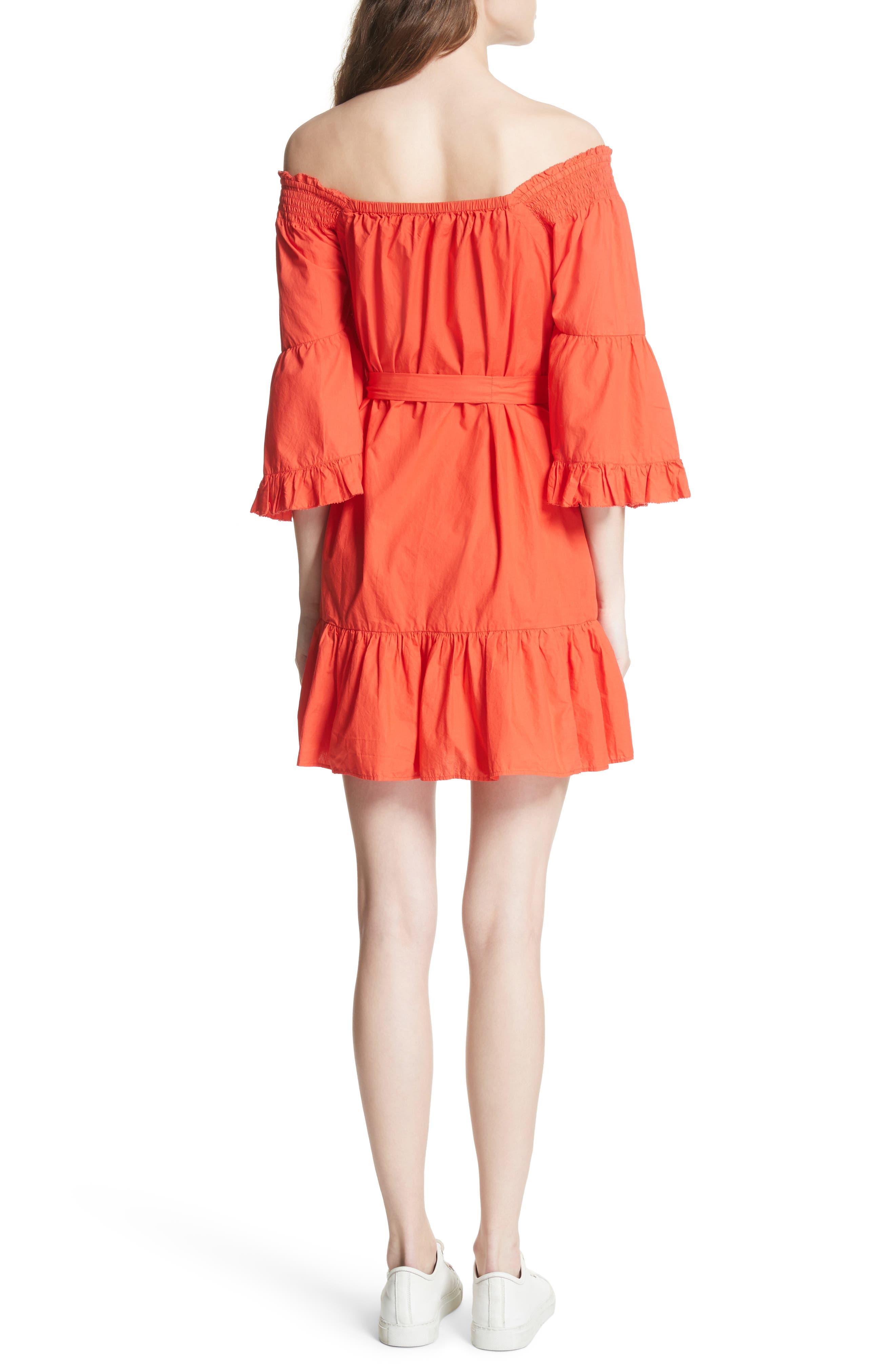 Colstona Ruffle Cotton Dress,                             Alternate thumbnail 2, color,                             800