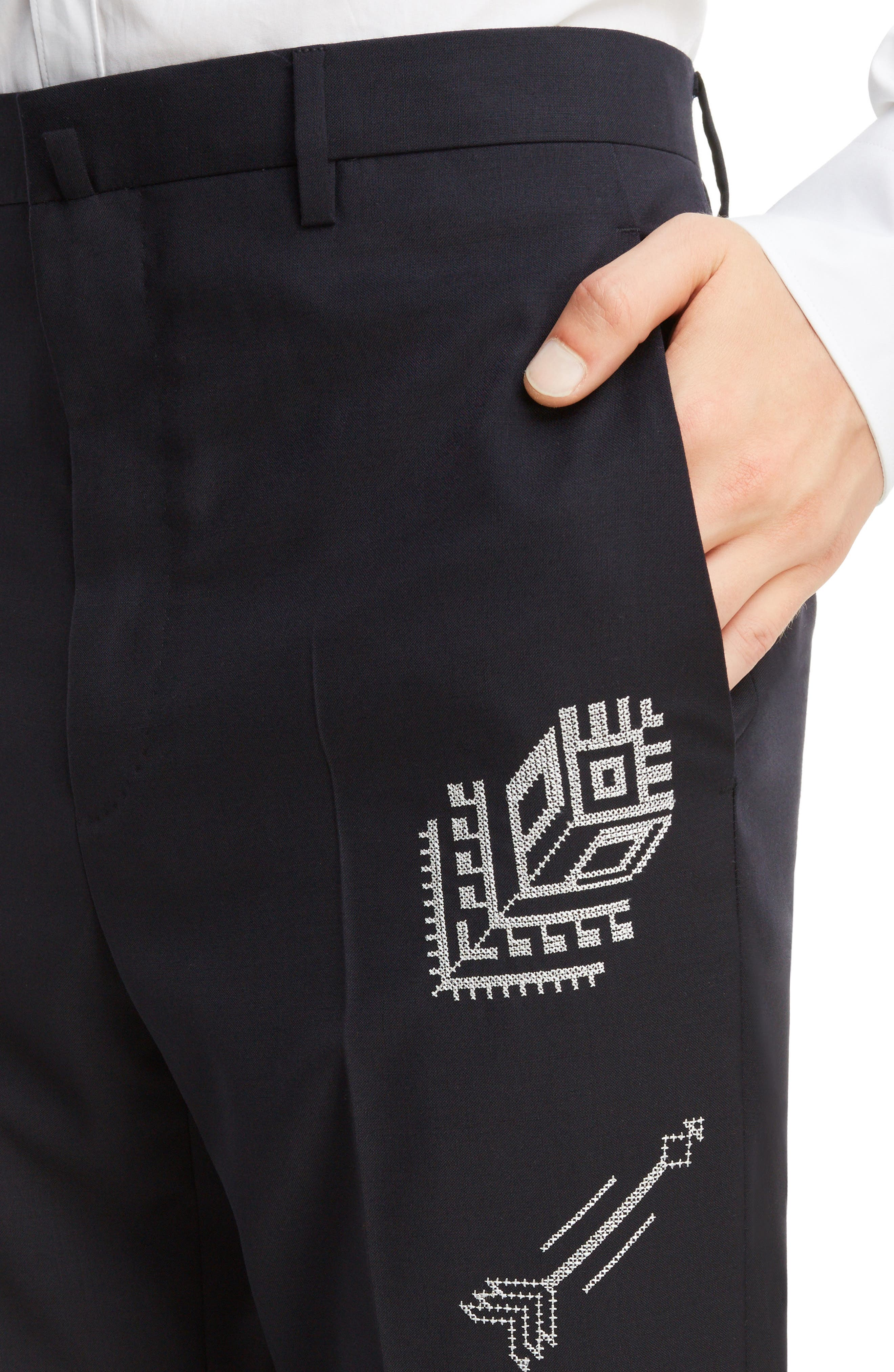 Tropical Wool Suit Trousers,                             Alternate thumbnail 8, color,