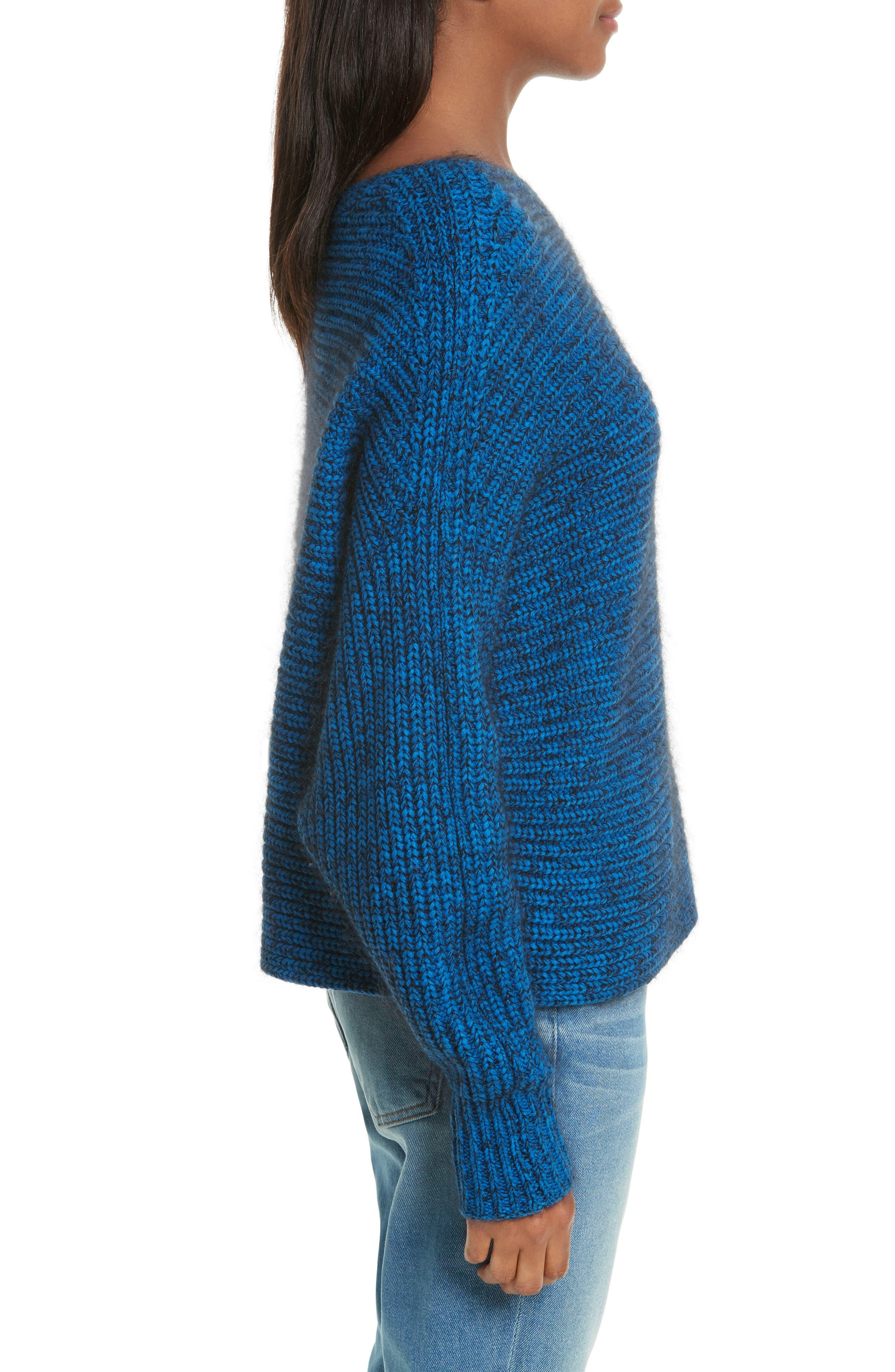 Asymmetrical Knit Sweater,                             Alternate thumbnail 3, color,                             437