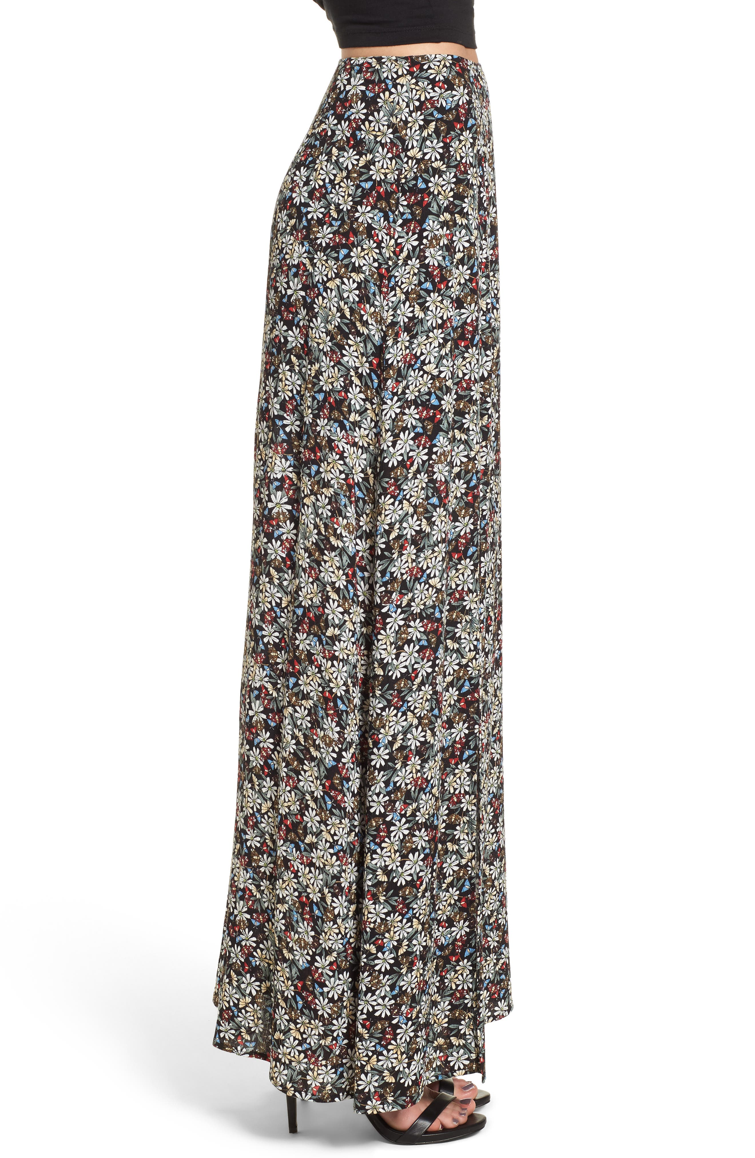 Flora Slit Front Maxi Skirt,                             Alternate thumbnail 3, color,                             004