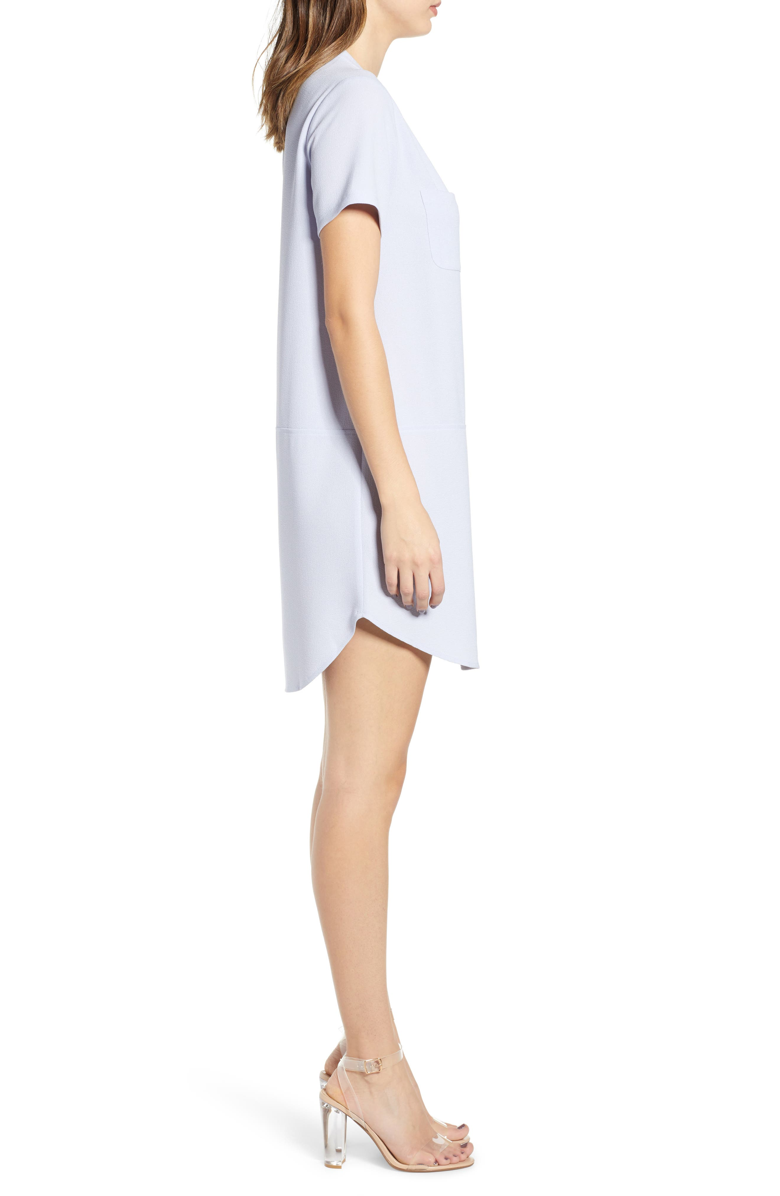 ALL IN FAVOR,                             Hailey Crepe Dress,                             Alternate thumbnail 3, color,                             HEATHER BLUE