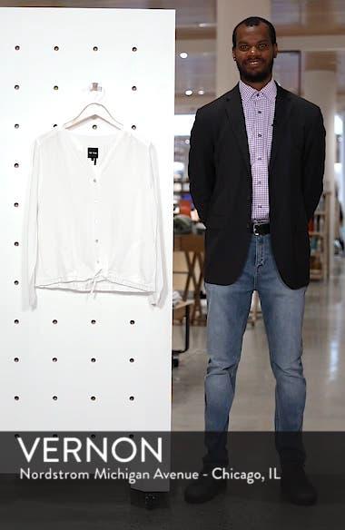 Homebound Linen Blend Drawstring Jacket, sales video thumbnail