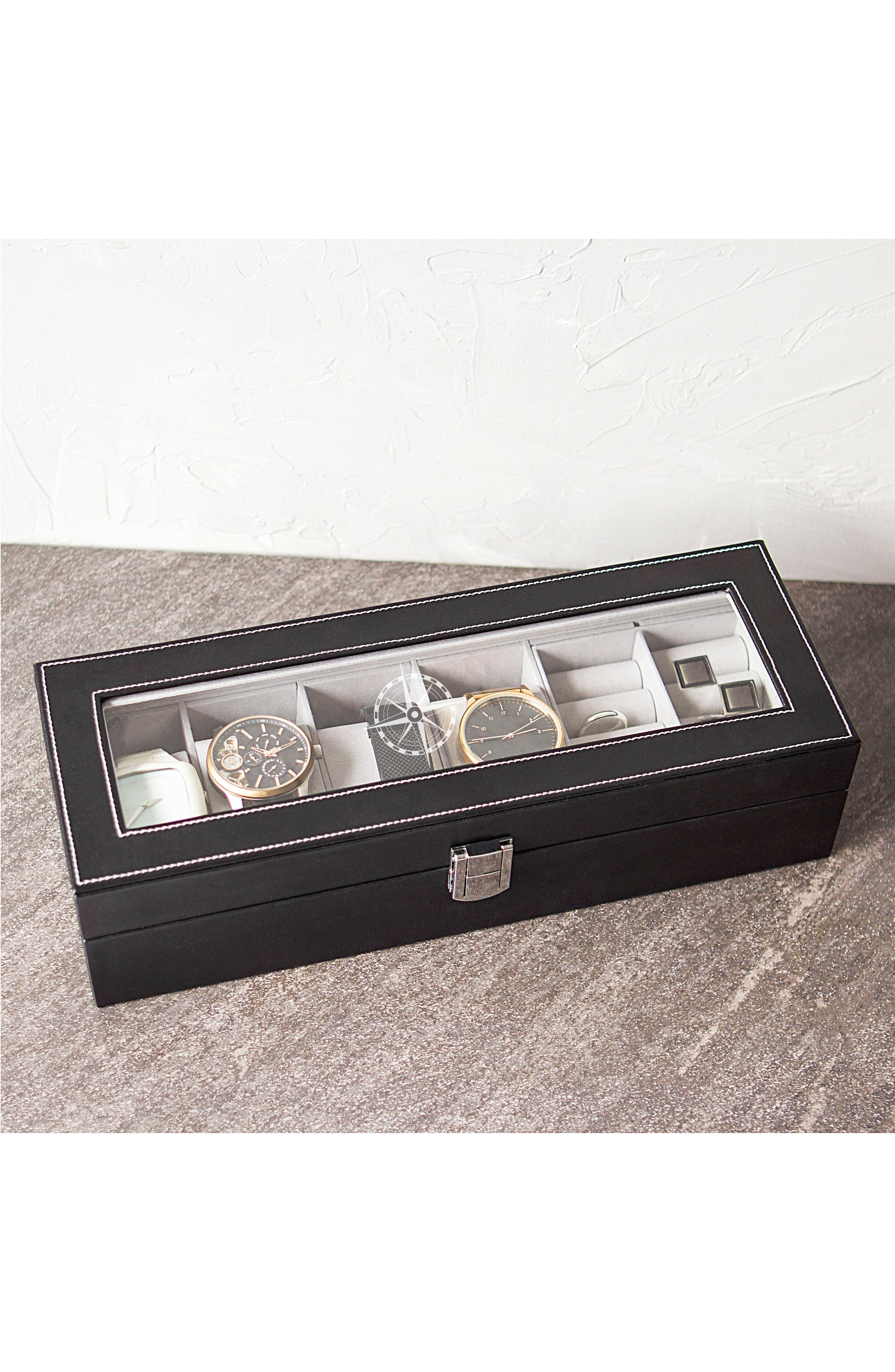 Compass Watch & Jewelry Case,                             Alternate thumbnail 6, color,                             001
