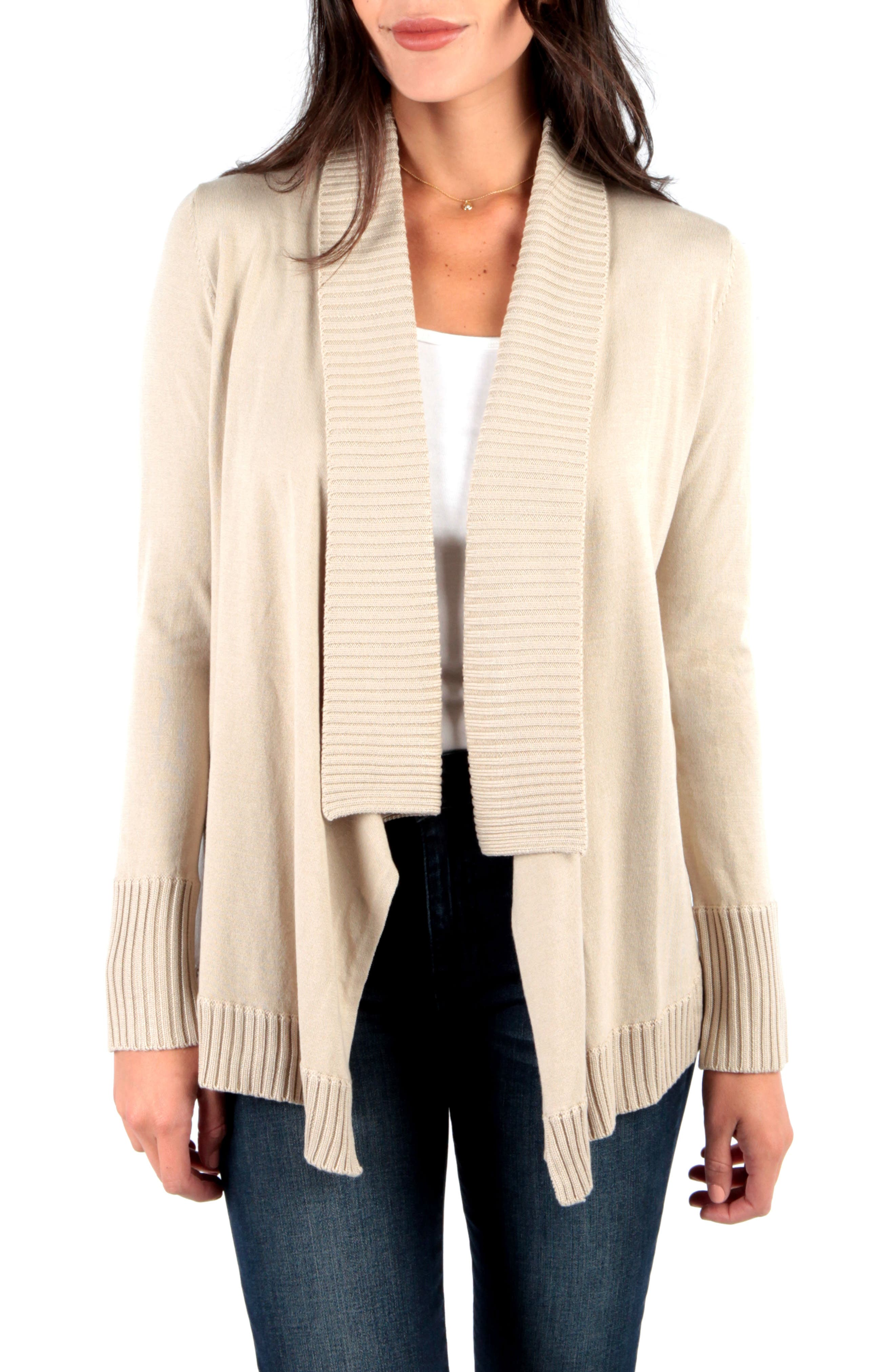 Kut From The Kloth Amabelle Knit Cardigan, Beige