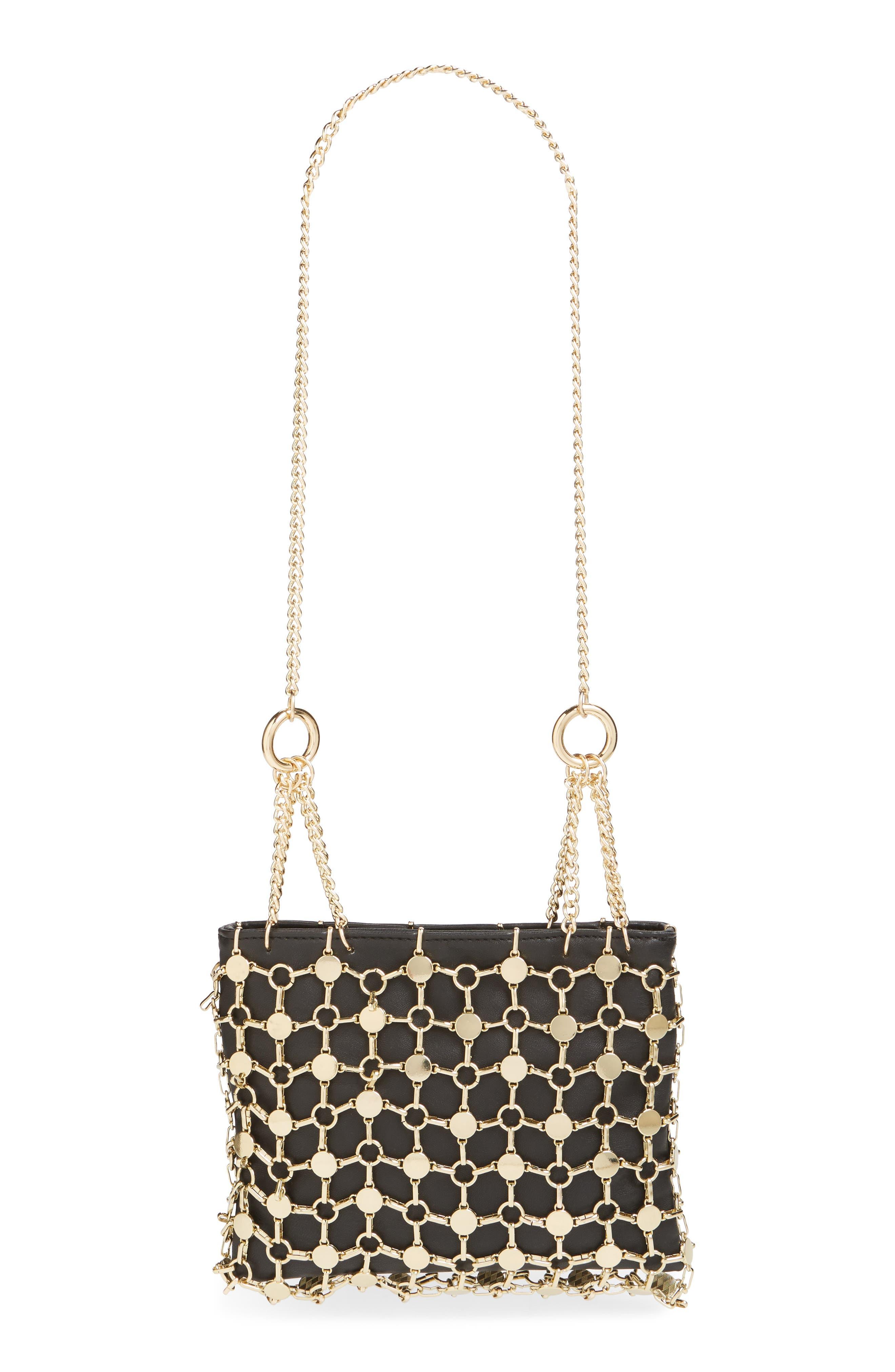 Cage Shoulder Bag,                         Main,                         color, GOLD MULTI