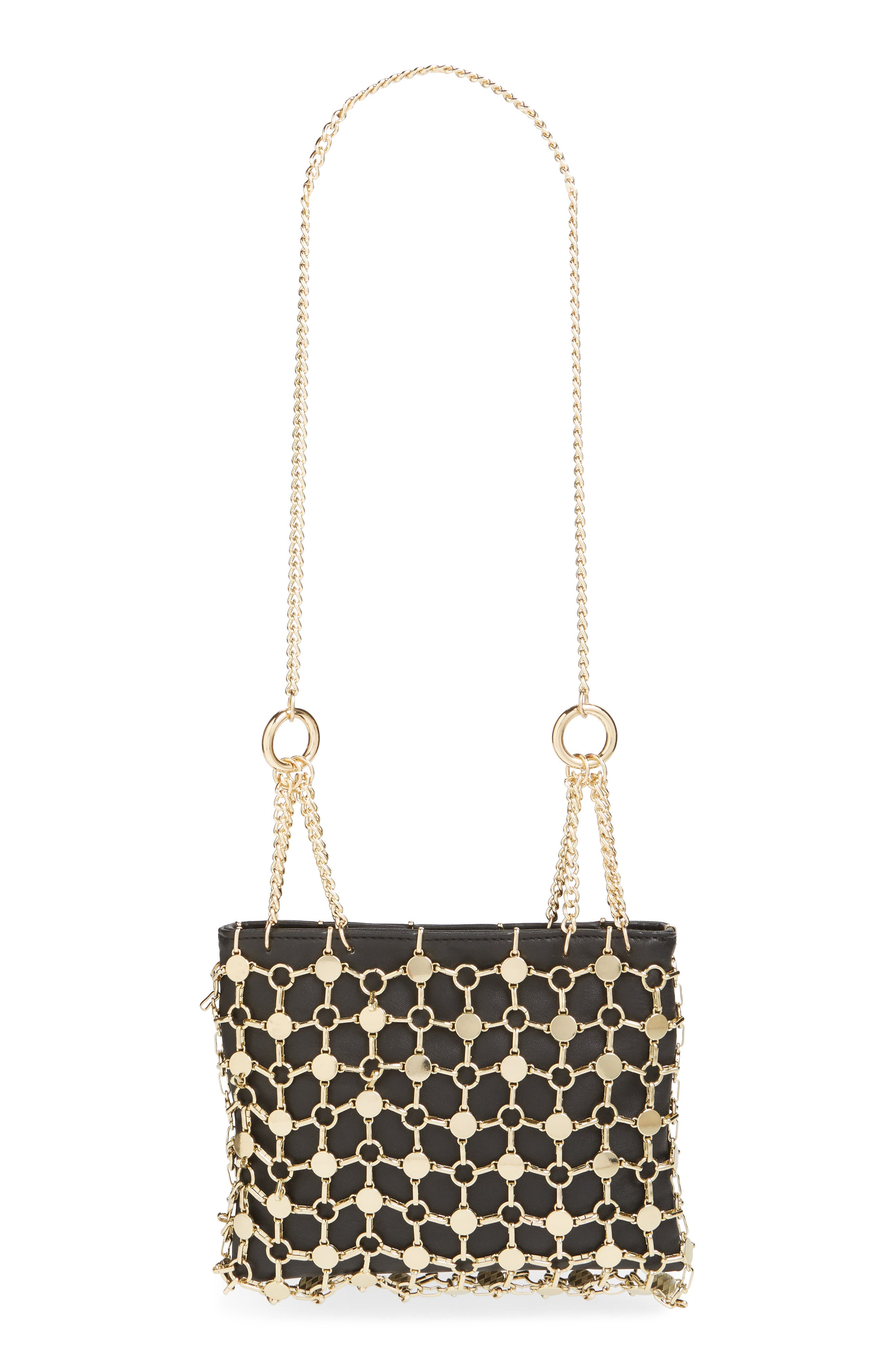 Multi Chain Shoulder Bag,                         Main,                         color, GOLD MULTI