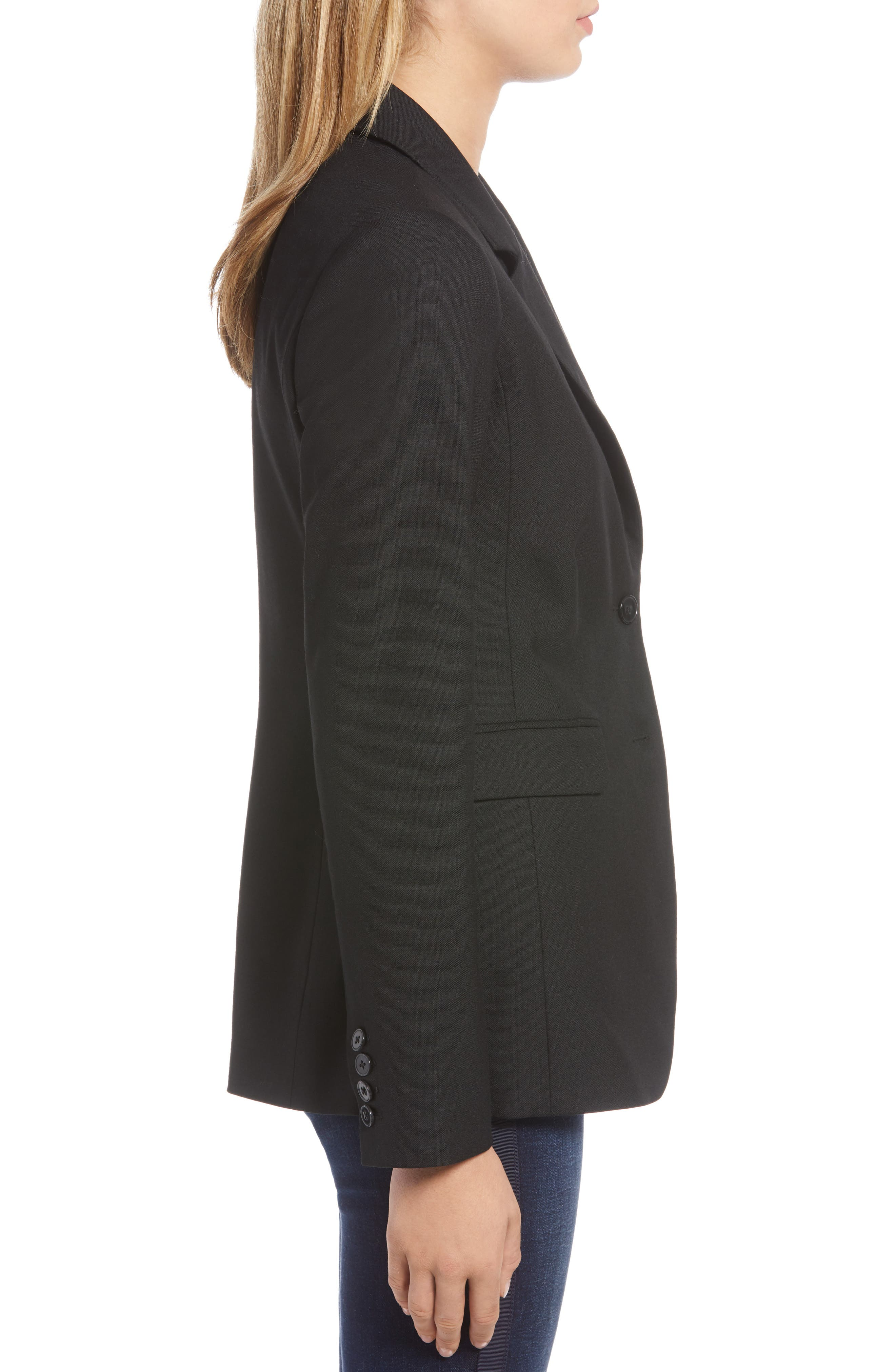 Original Wool Blazer,                             Alternate thumbnail 3, color,                             BLACK