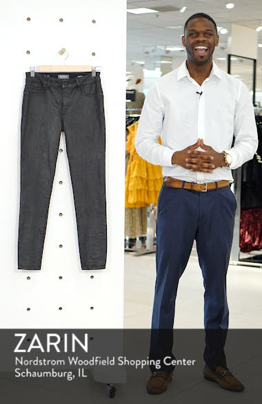Florence Instasculpt Coated Ankle Skinny Jeans, sales video thumbnail