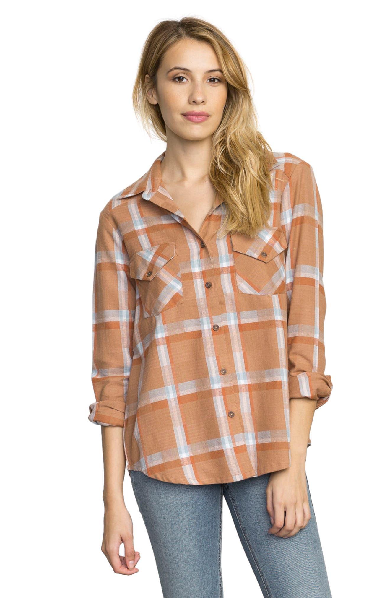 Plaid Flannel Shirt,                             Main thumbnail 3, color,