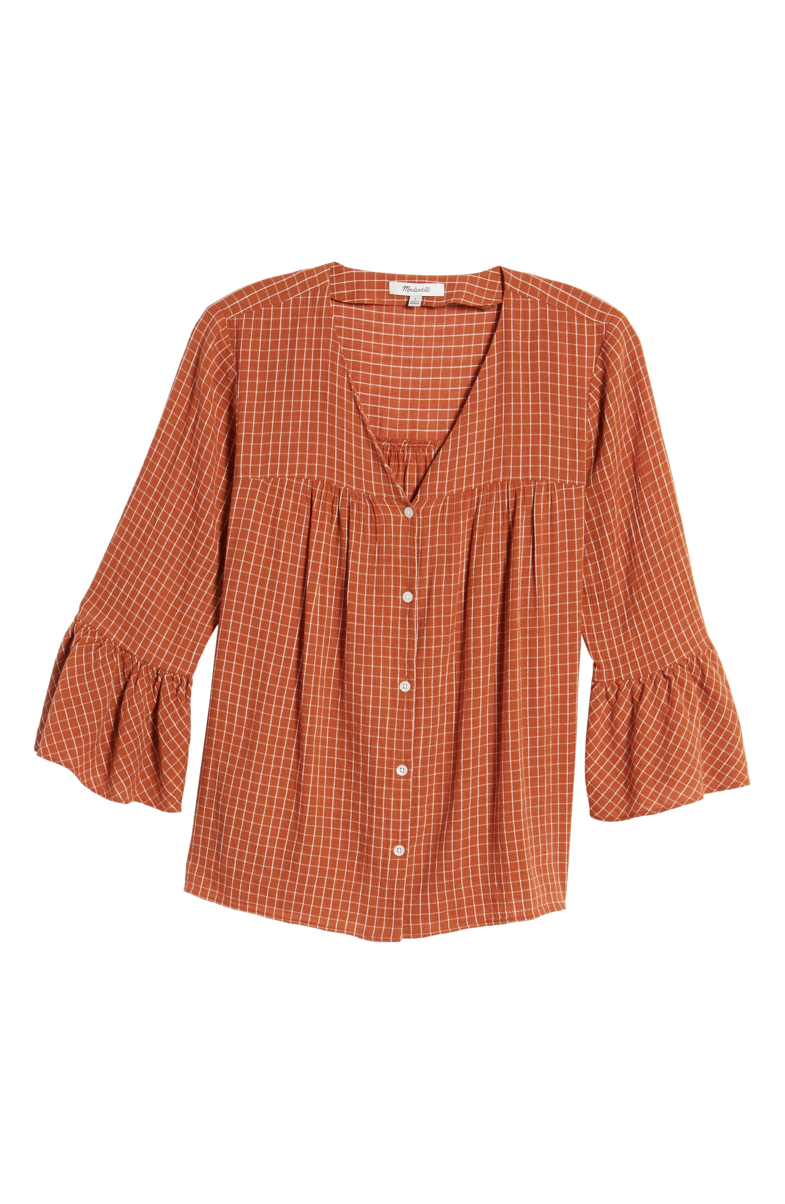 Veranda Bell Sleeve Shirt,                             Alternate thumbnail 6, color,