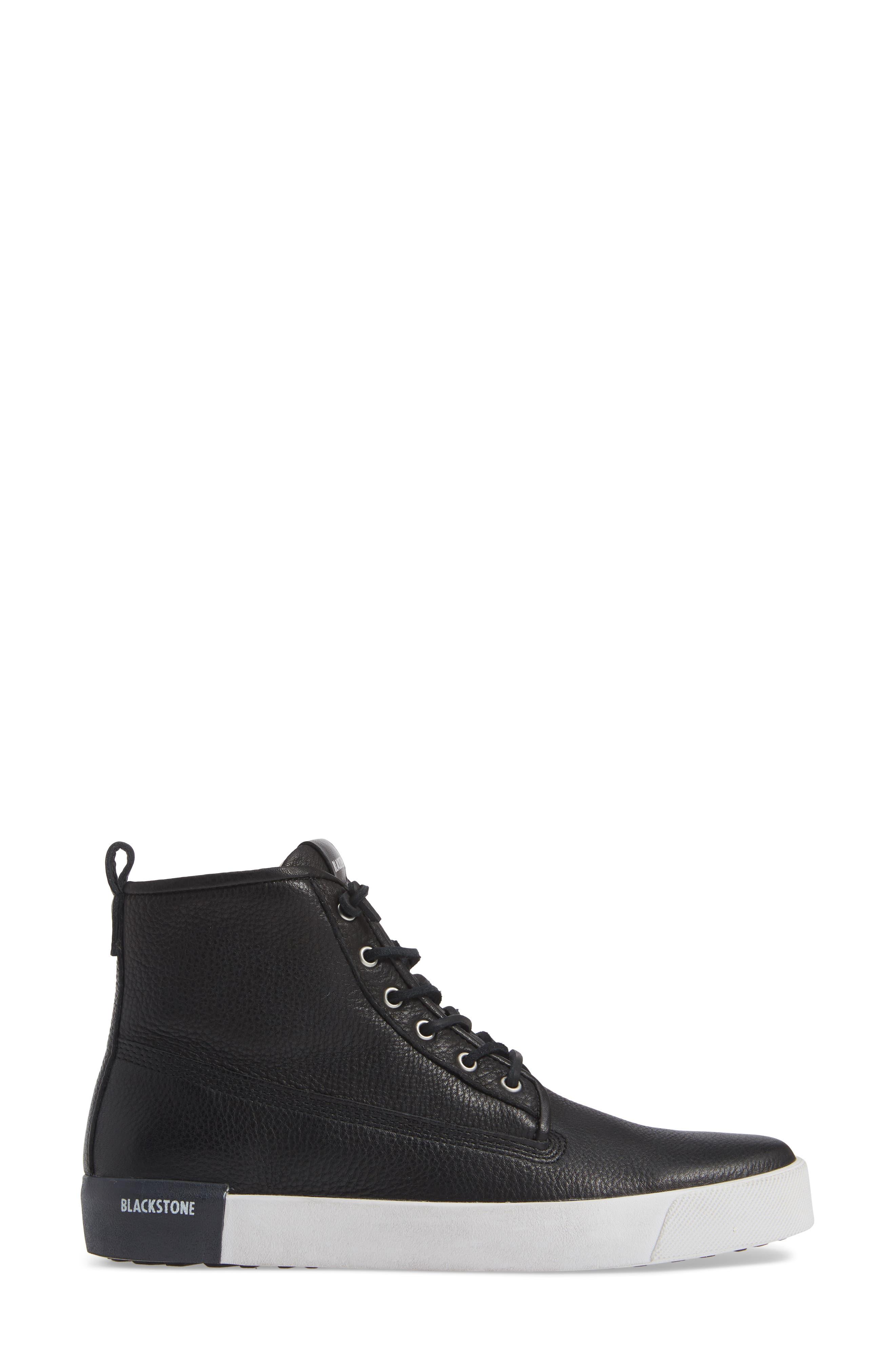 QM80 High Top Sneaker,                             Alternate thumbnail 3, color,                             BLACK