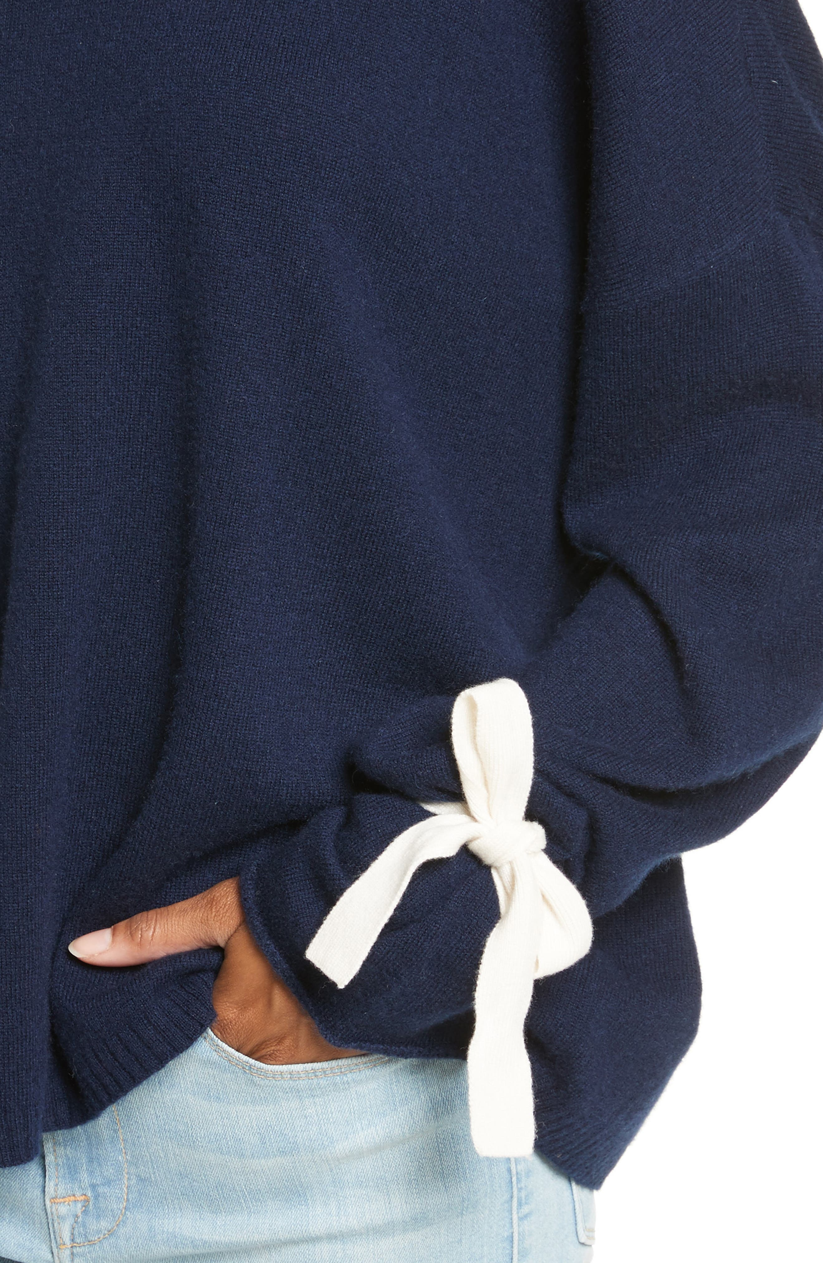 Tie Cuff Sweater,                             Alternate thumbnail 4, color,                             411