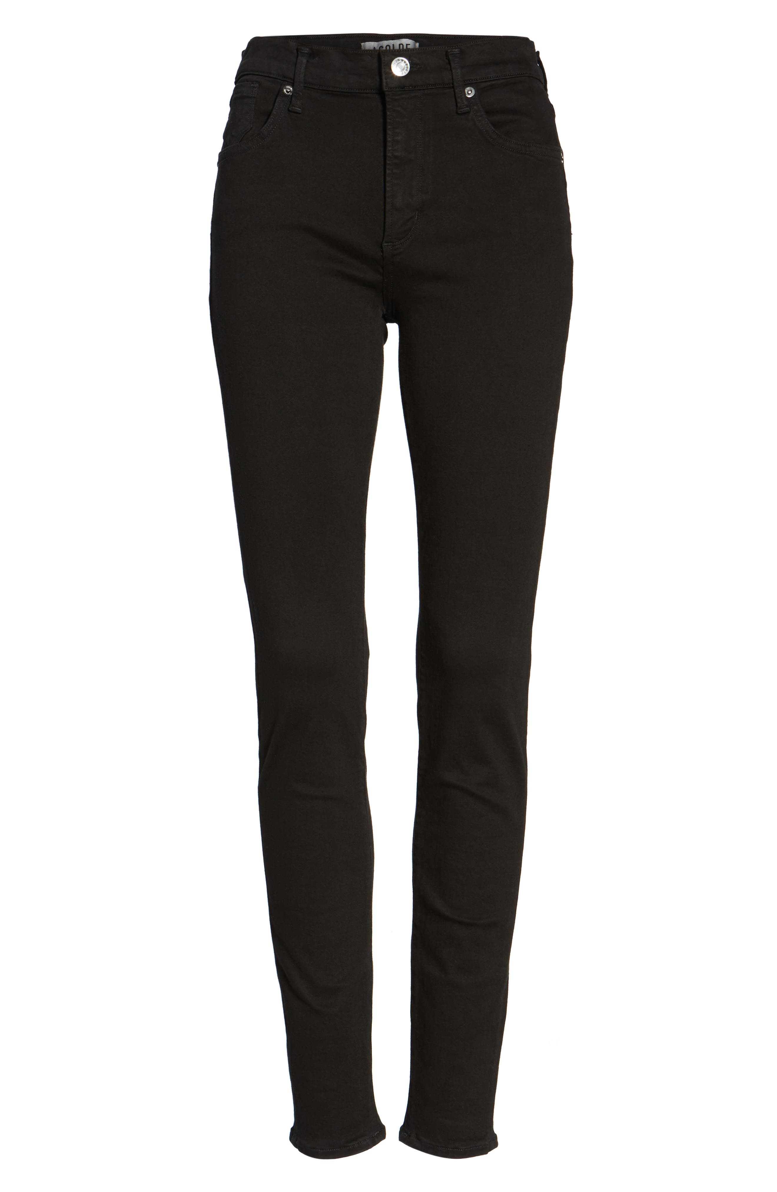 Sophie High Waist Skinny Jeans,                             Alternate thumbnail 6, color,                             002