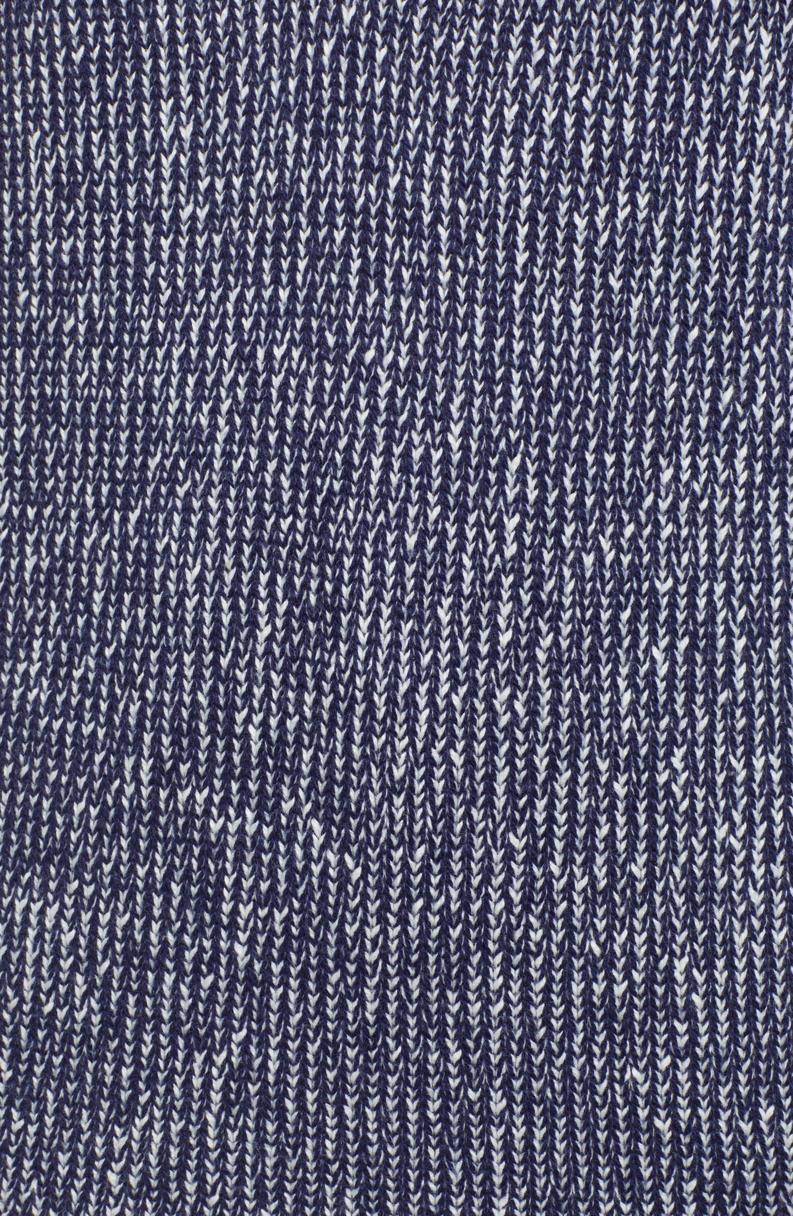 Marled V-Neck Sweater,                             Alternate thumbnail 5, color,                             NAVY MARITIME- WHITE COMBO