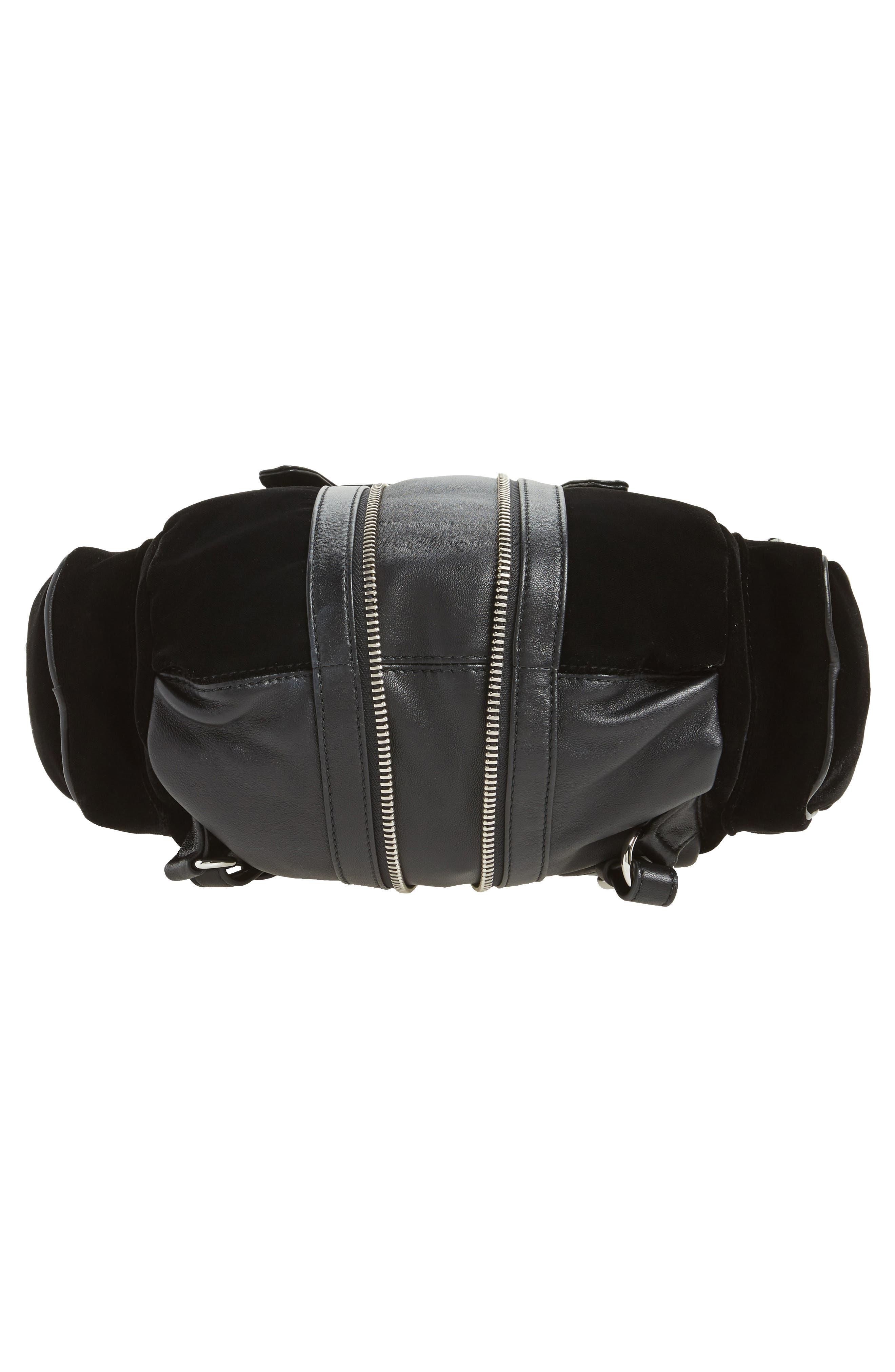 Mini Marti Velvet & Lambskin Leather Backpack,                             Alternate thumbnail 6, color,                             001