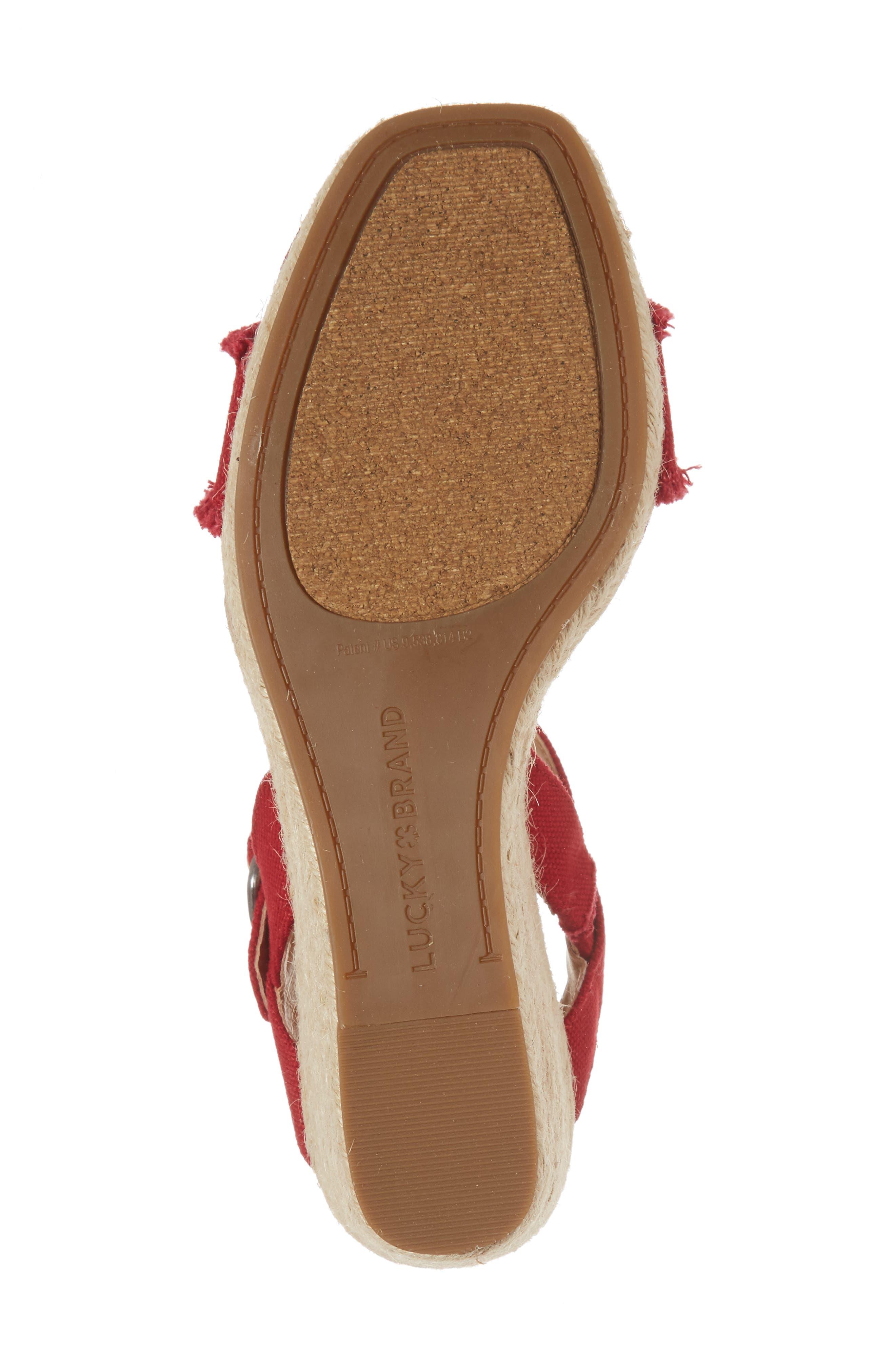 Marceline Squared Toe Wedge Sandal,                             Alternate thumbnail 42, color,