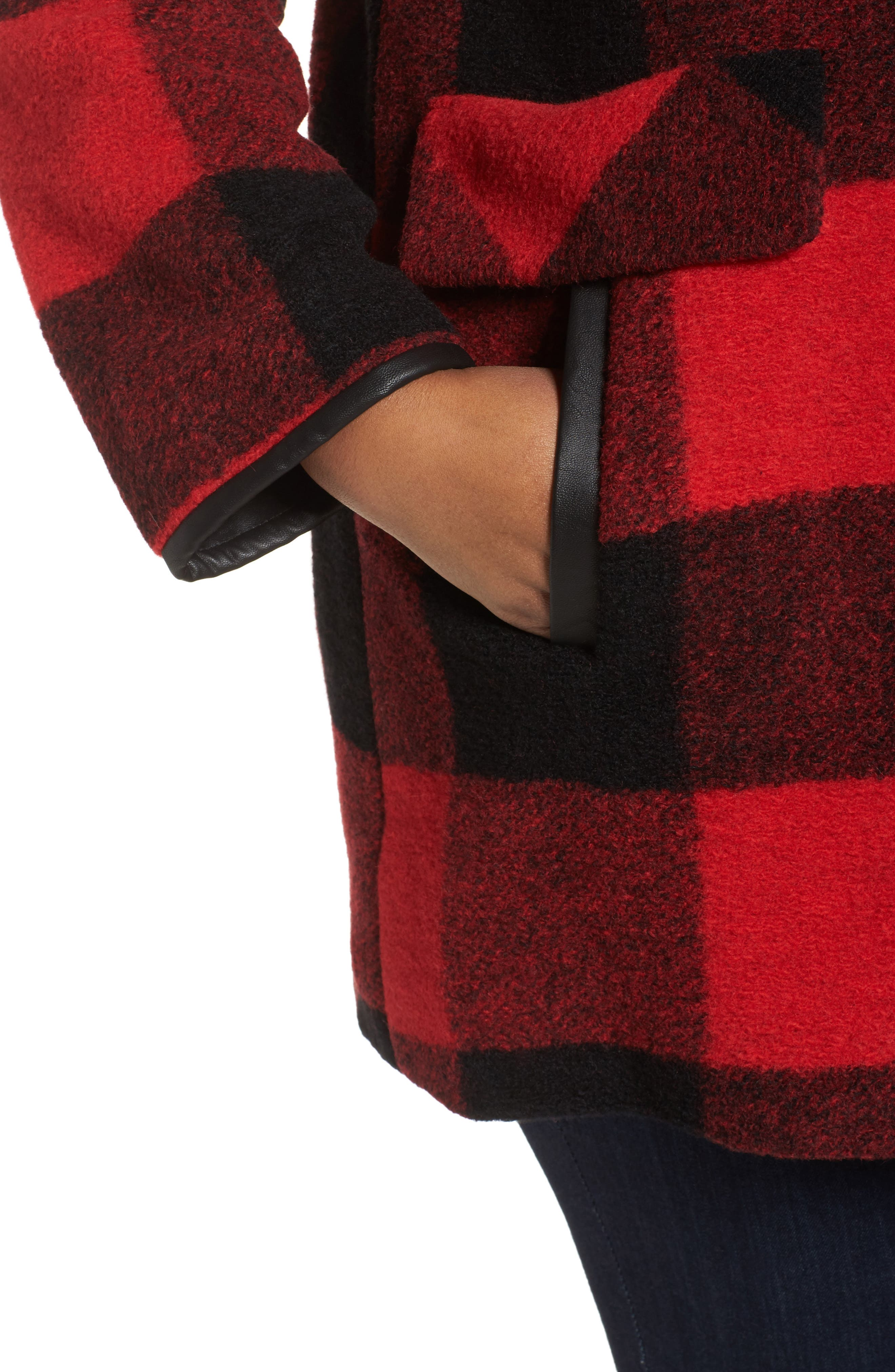 Paul Bunyan Plaid Wool Blend Barn Coat,                             Alternate thumbnail 8, color,