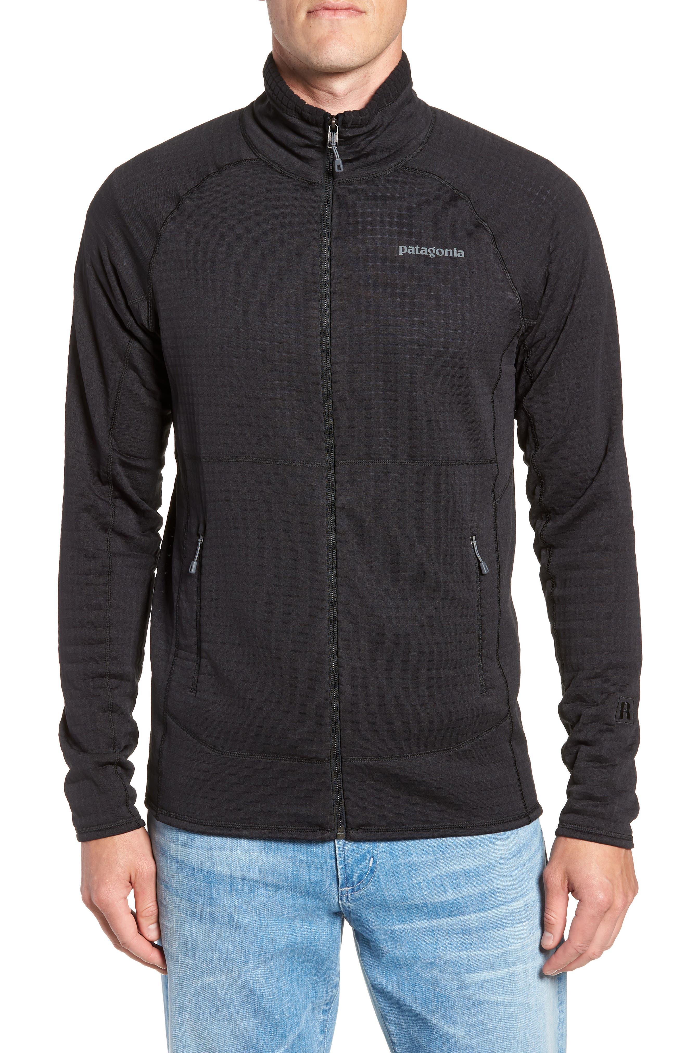 R1<sup>®</sup> Full Zip Jacket,                             Alternate thumbnail 4, color,                             BLACK