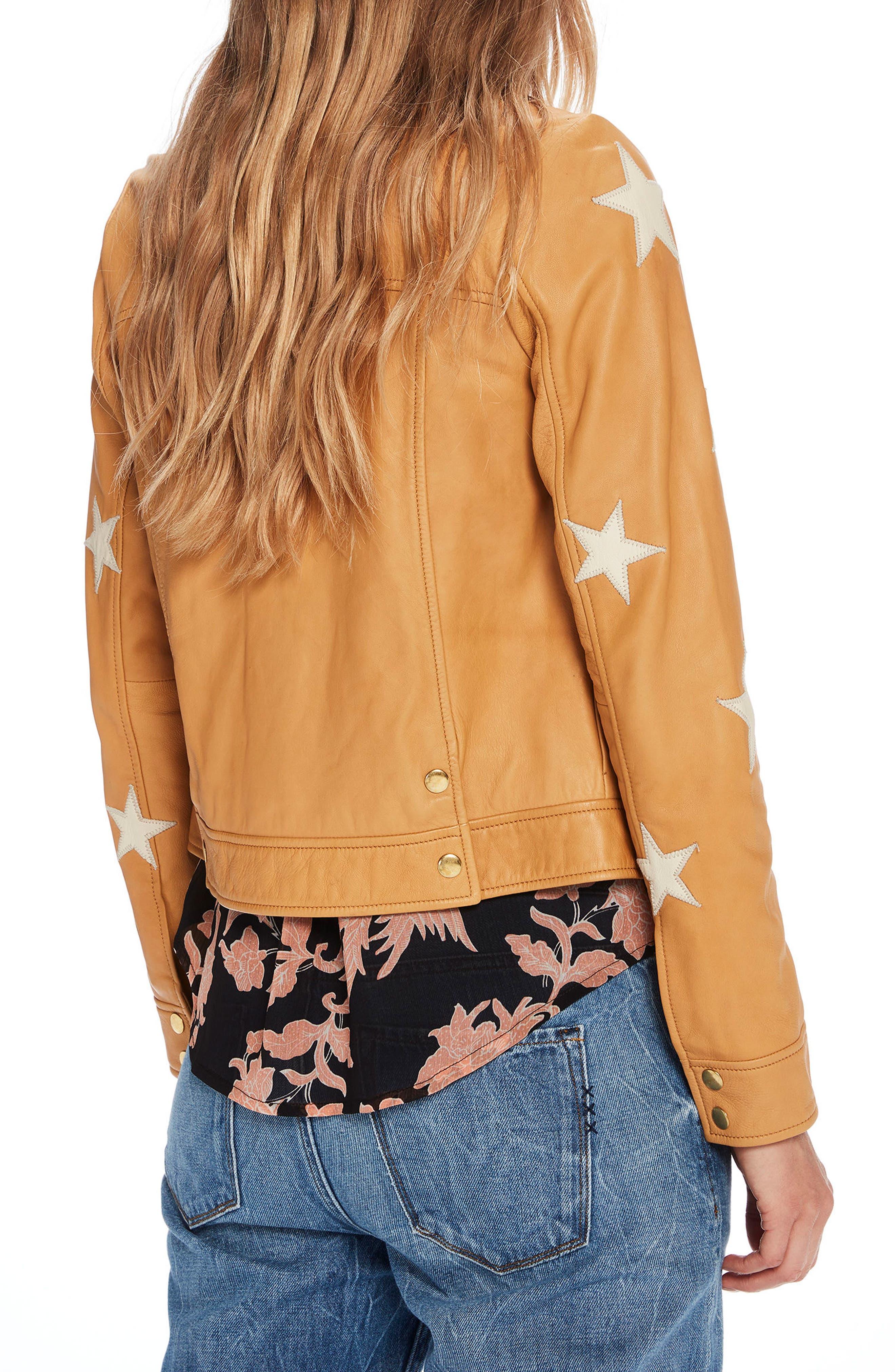 Sheepskin Leather Shirt Jacket,                             Alternate thumbnail 2, color,                             701