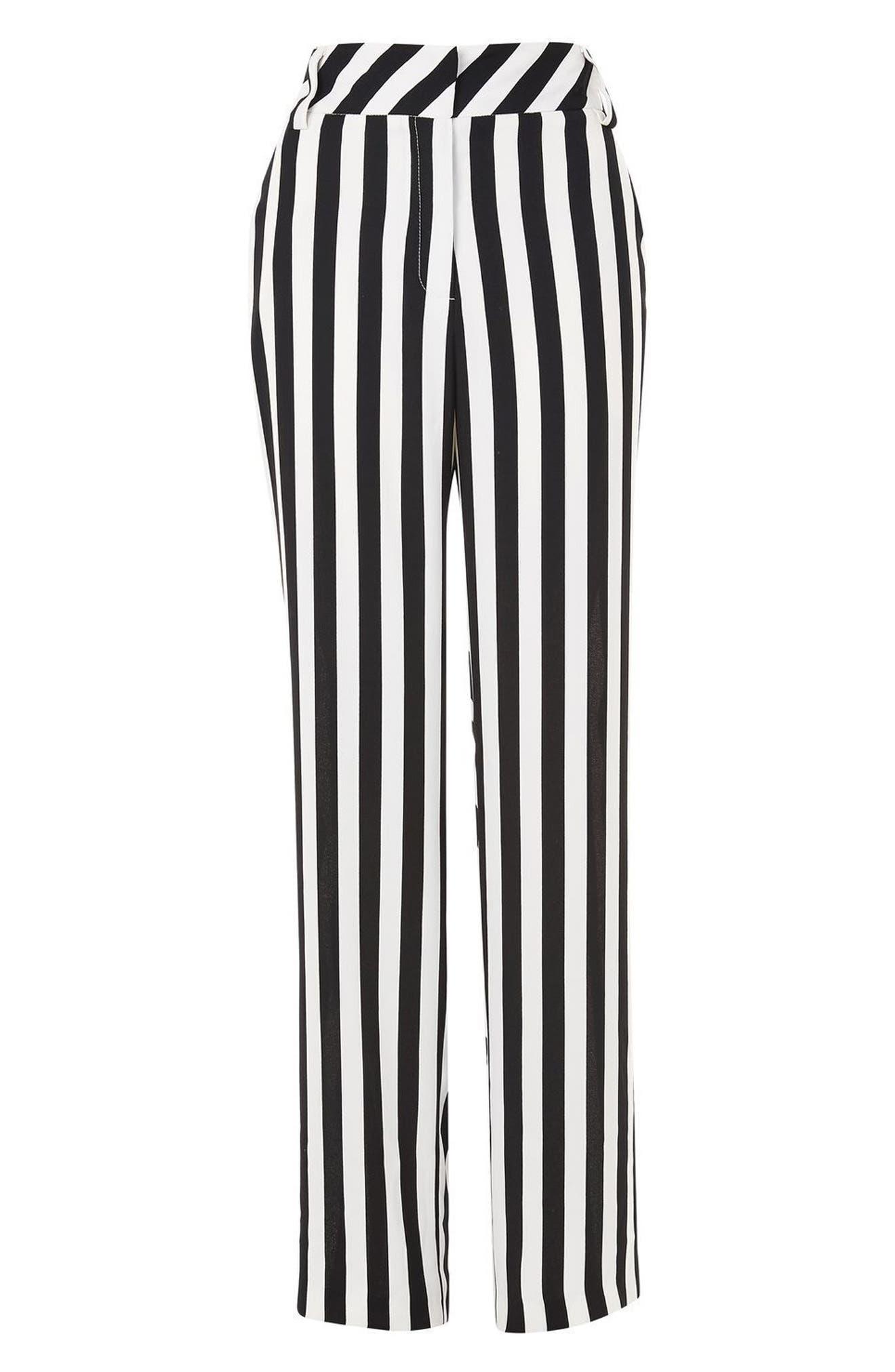 Humbug Stripe Trousers,                             Alternate thumbnail 3, color,                             001