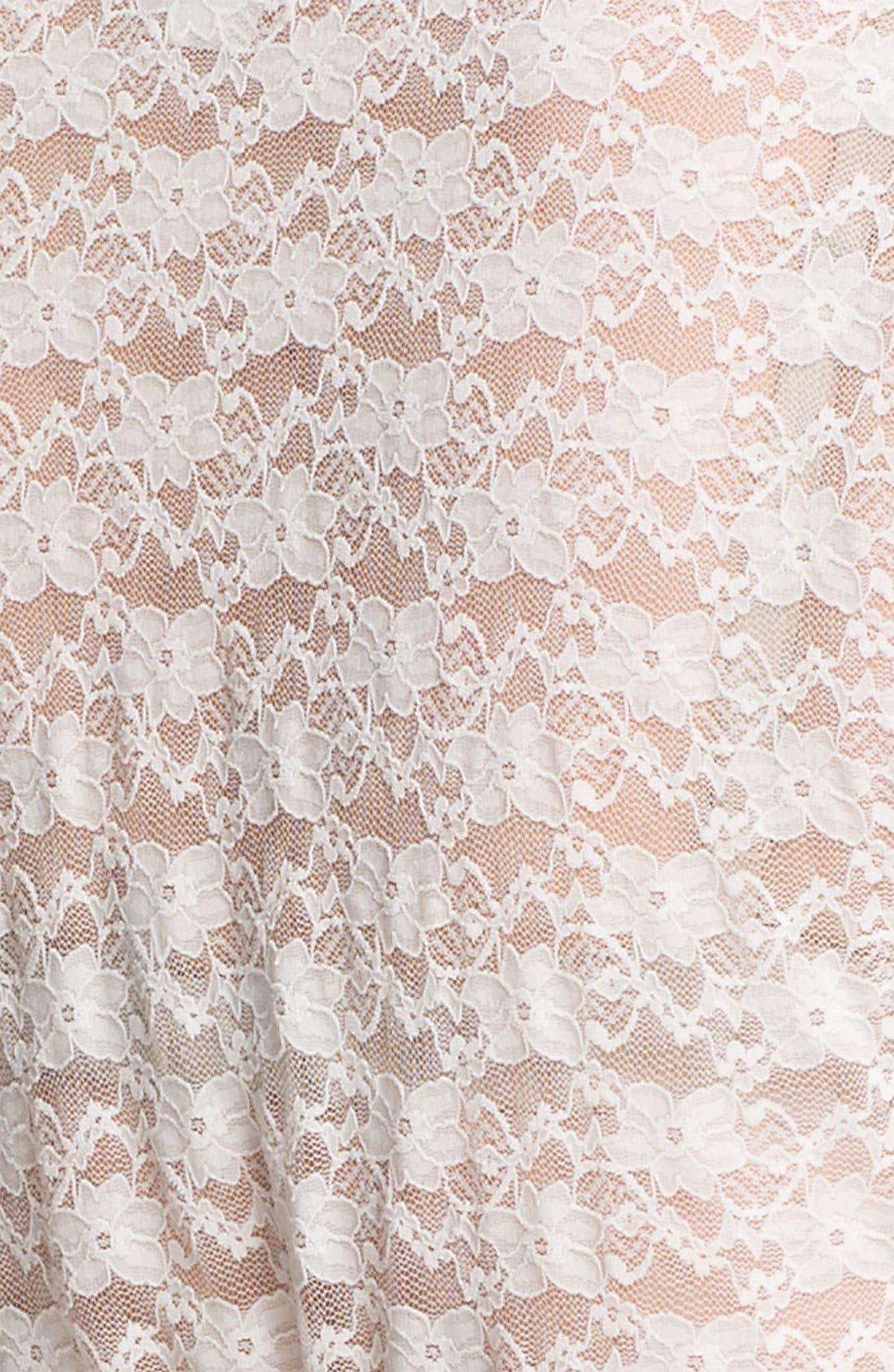 Lace Bridal Wrap,                             Alternate thumbnail 3, color,                             100