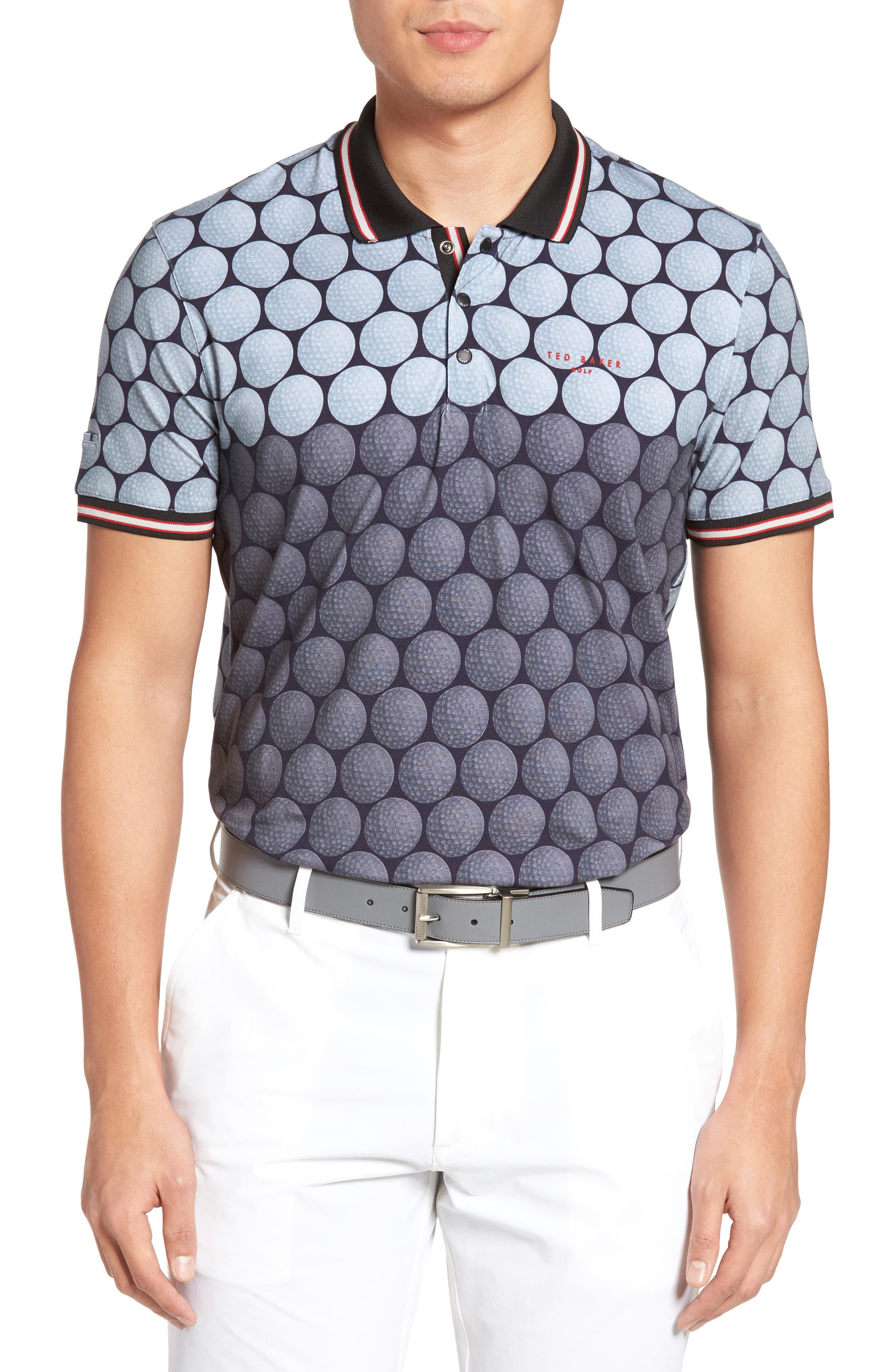 Birdy Print Golf Polo,                             Main thumbnail 1, color,                             030