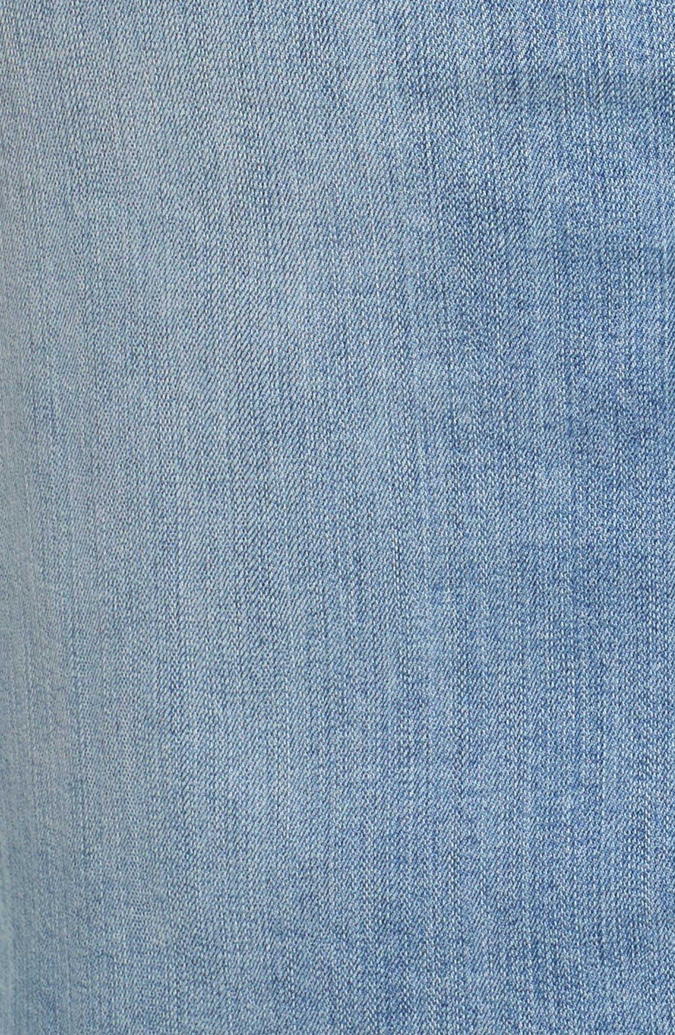 Raw Edge Denim Skirt,                             Alternate thumbnail 5, color,                             401