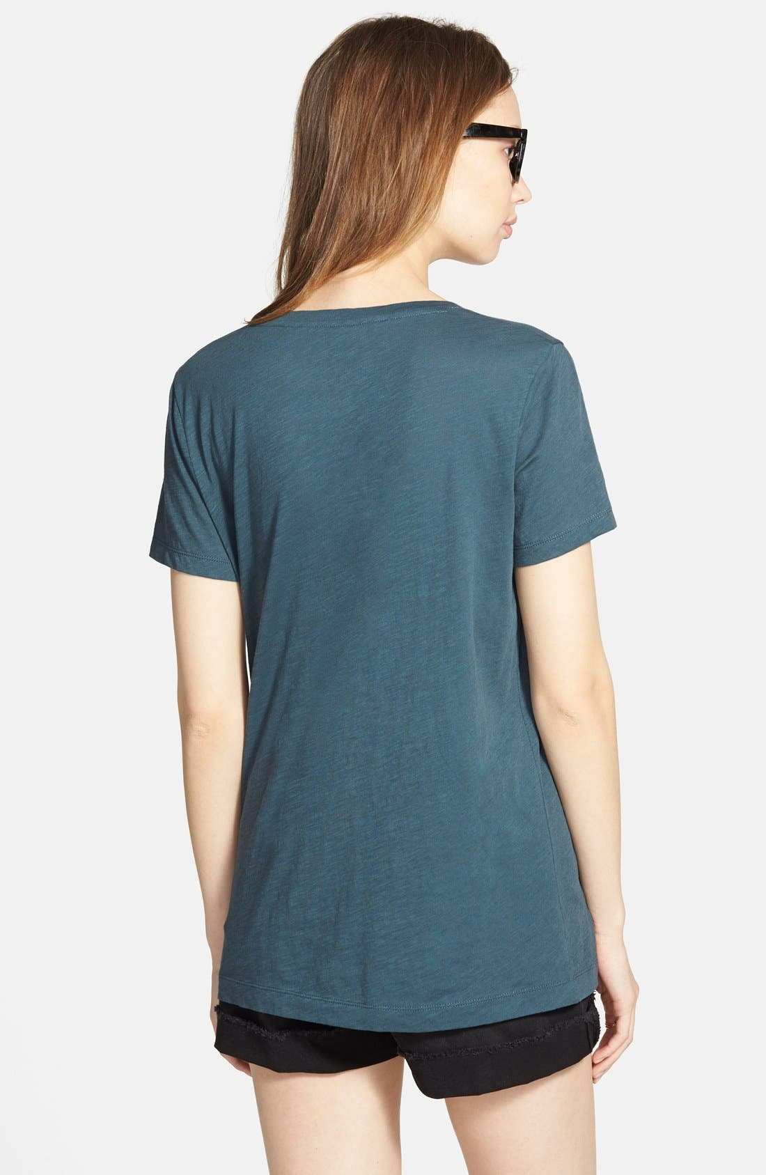 Whisper Cotton V-Neck Pocket Tee,                             Alternate thumbnail 101, color,