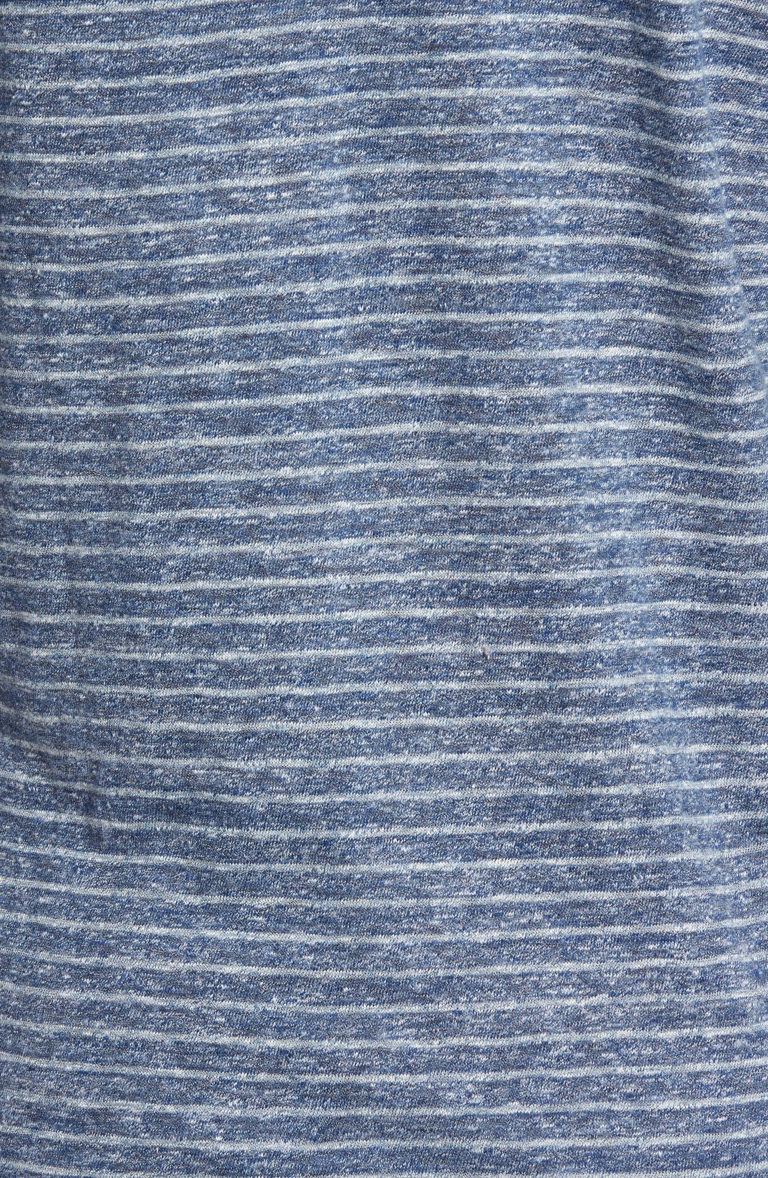 Stripe Long Sleeve Polo,                             Alternate thumbnail 5, color,                             412