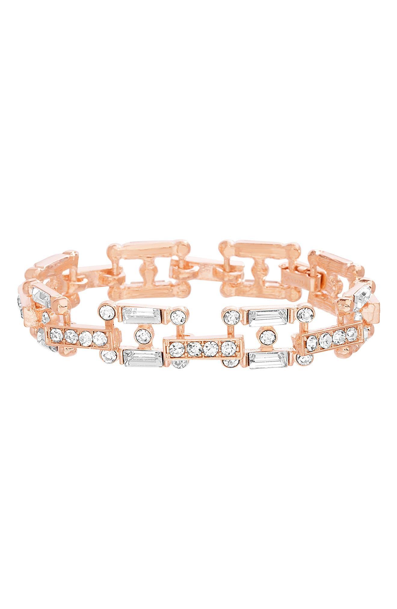 Crystal Link Bracelet,                         Main,                         color, 710