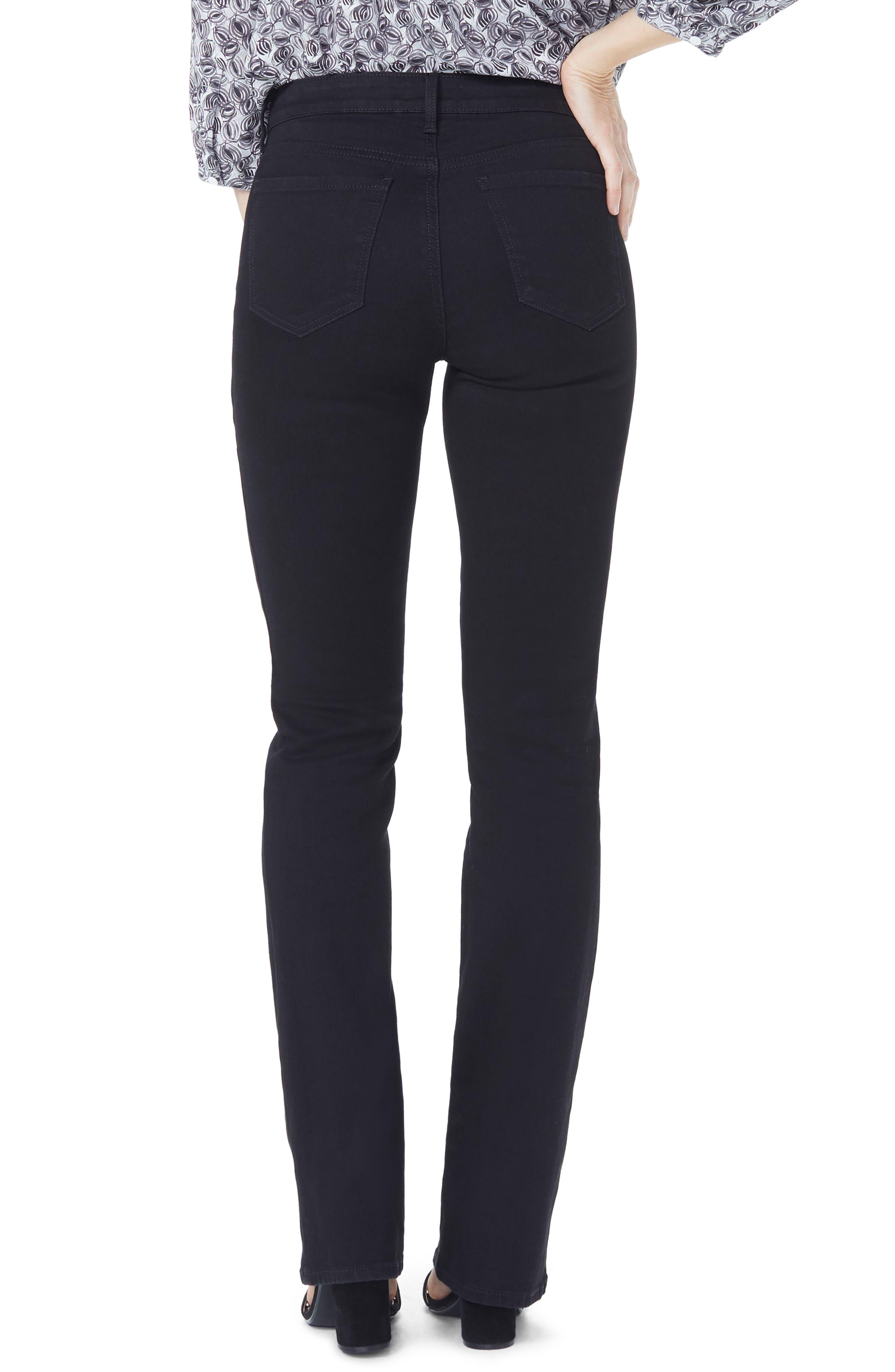 Barbara High Waist Stretch Bootcut Jeans,                             Alternate thumbnail 2, color,                             BLACK