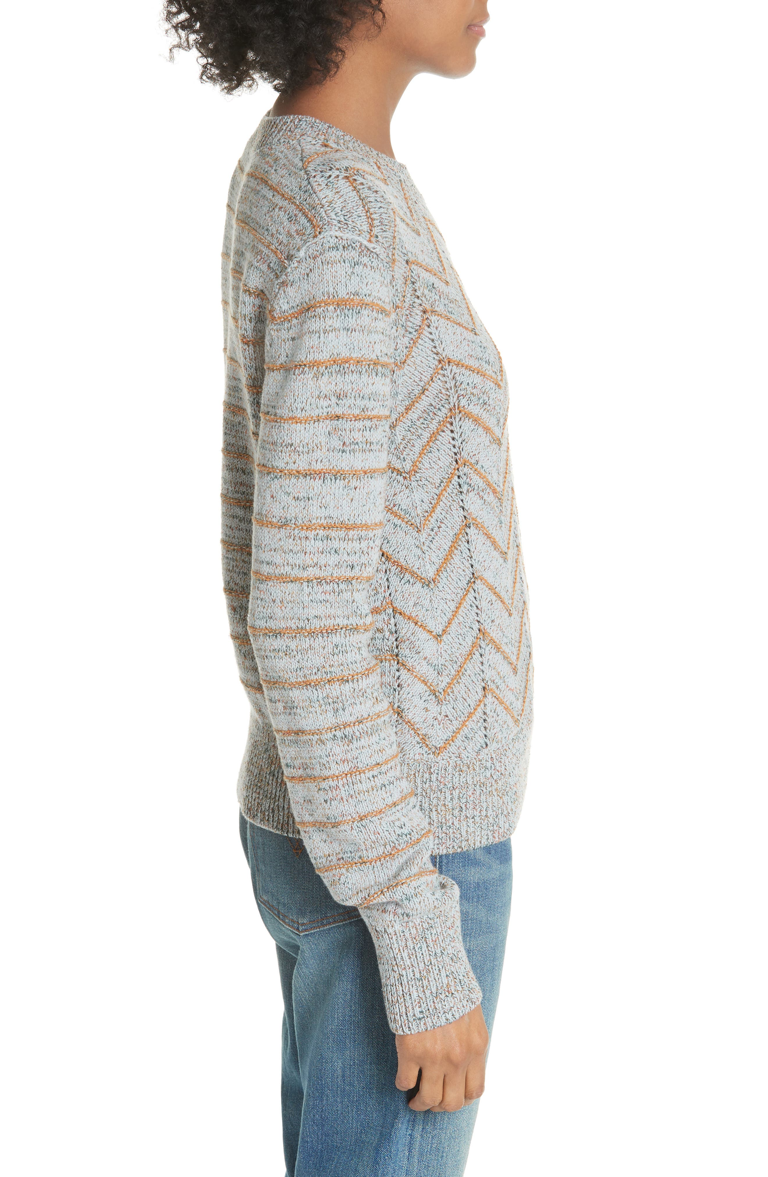 Zigzag Pullover,                             Alternate thumbnail 3, color,                             455