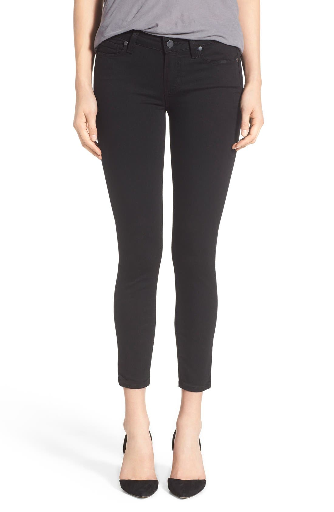 Transcend - Verdugo Crop Skinny Jeans,                             Main thumbnail 1, color,                             BLACK