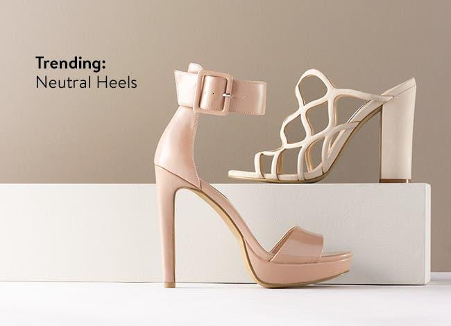Women's stilettos and block heels.