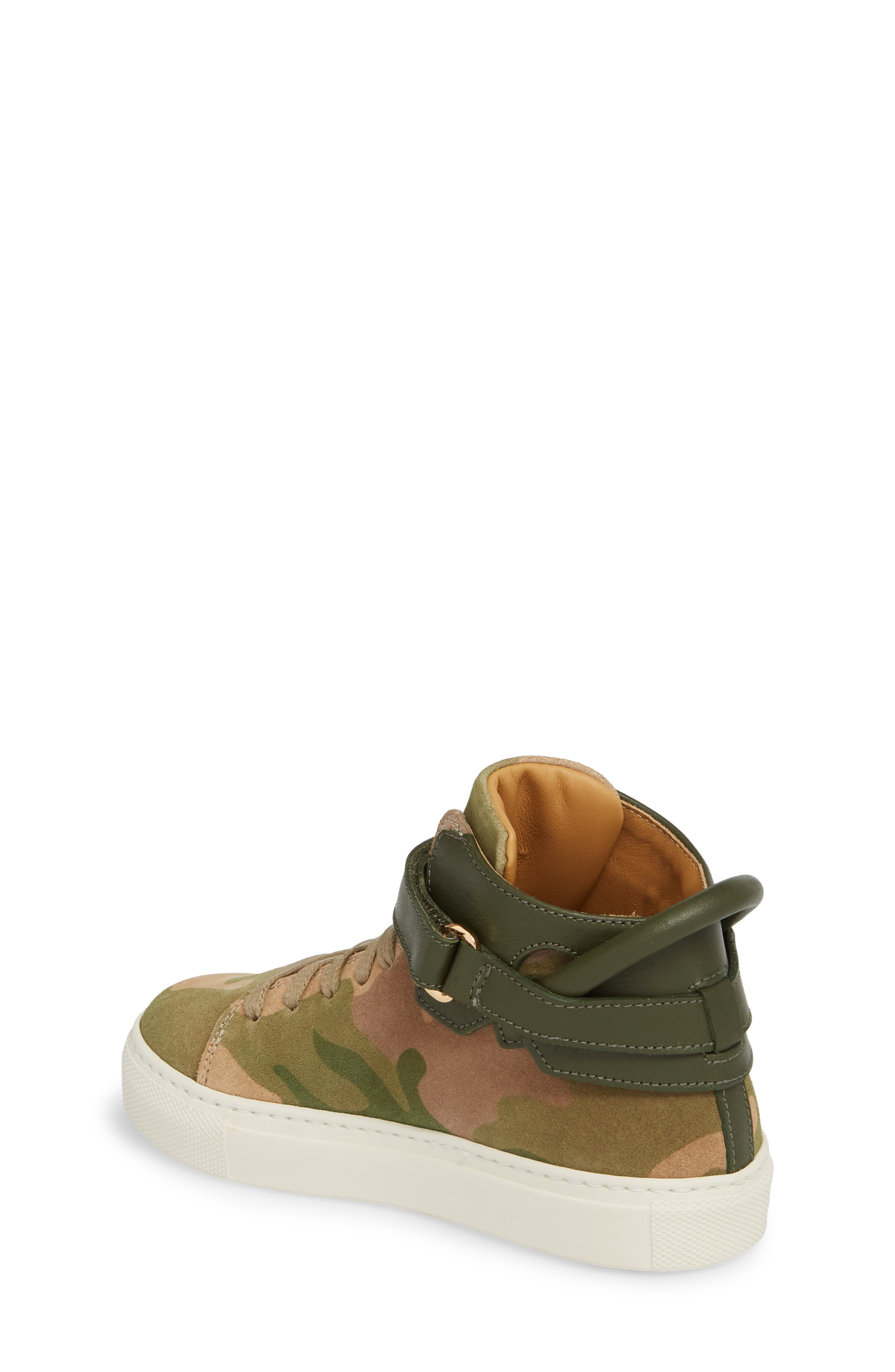 Suede High Top Sneaker,                             Alternate thumbnail 2, color,                             CAMO SUEDE