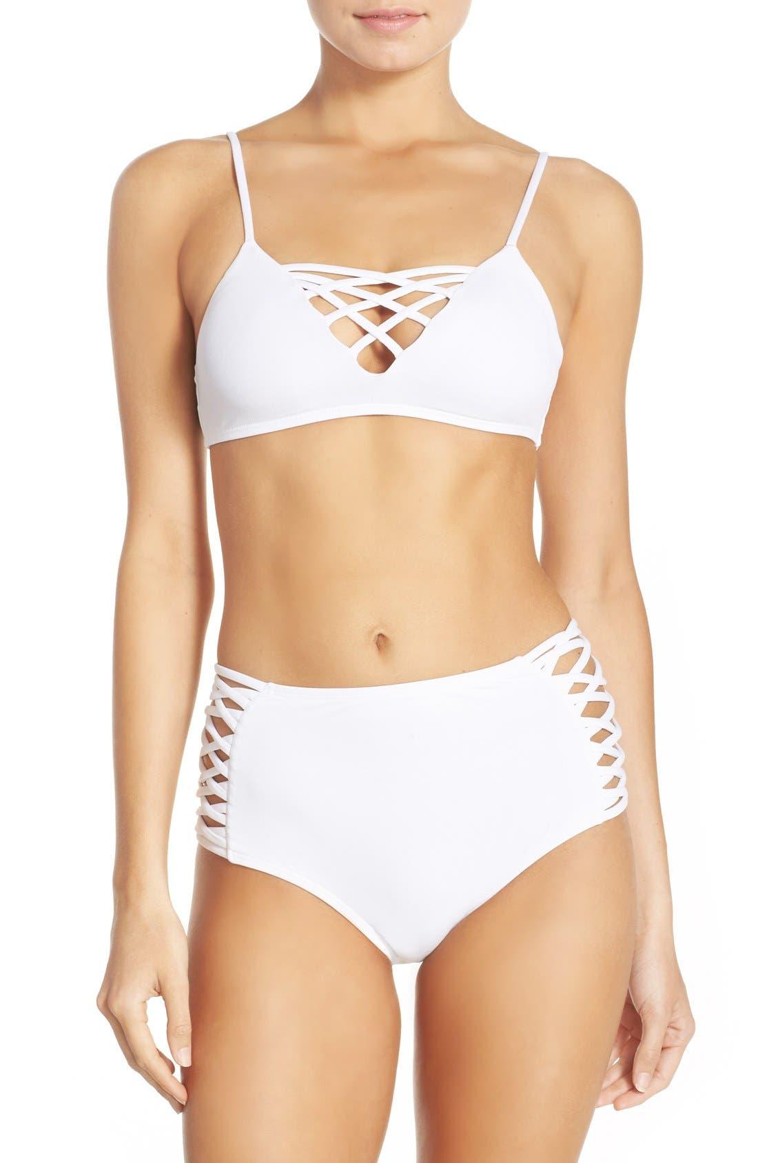 Tigress Classic High Waist Bikini Bottoms,                             Alternate thumbnail 14, color,