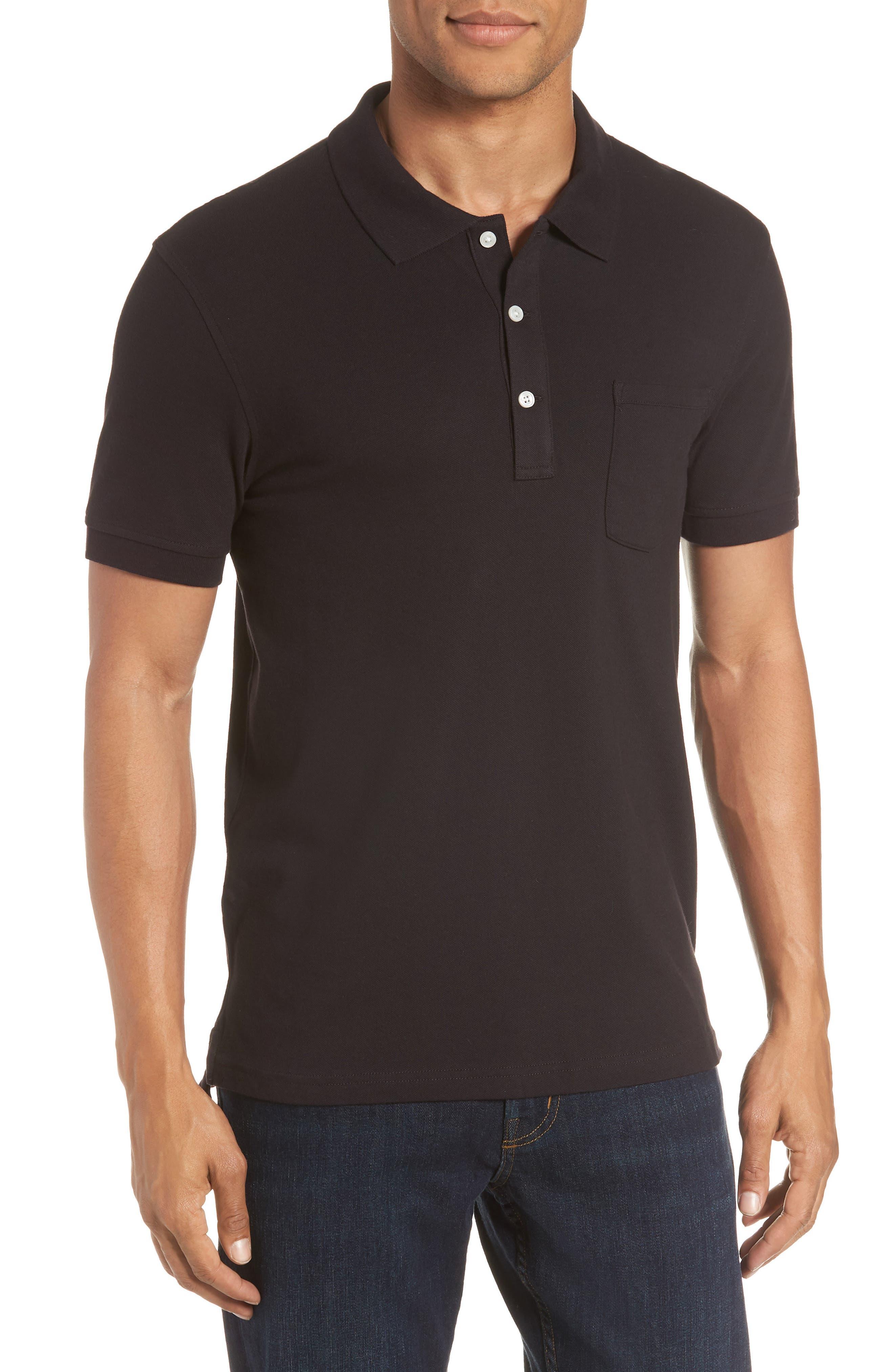 Stretch Cotton Polo Shirt,                         Main,                         color, 001