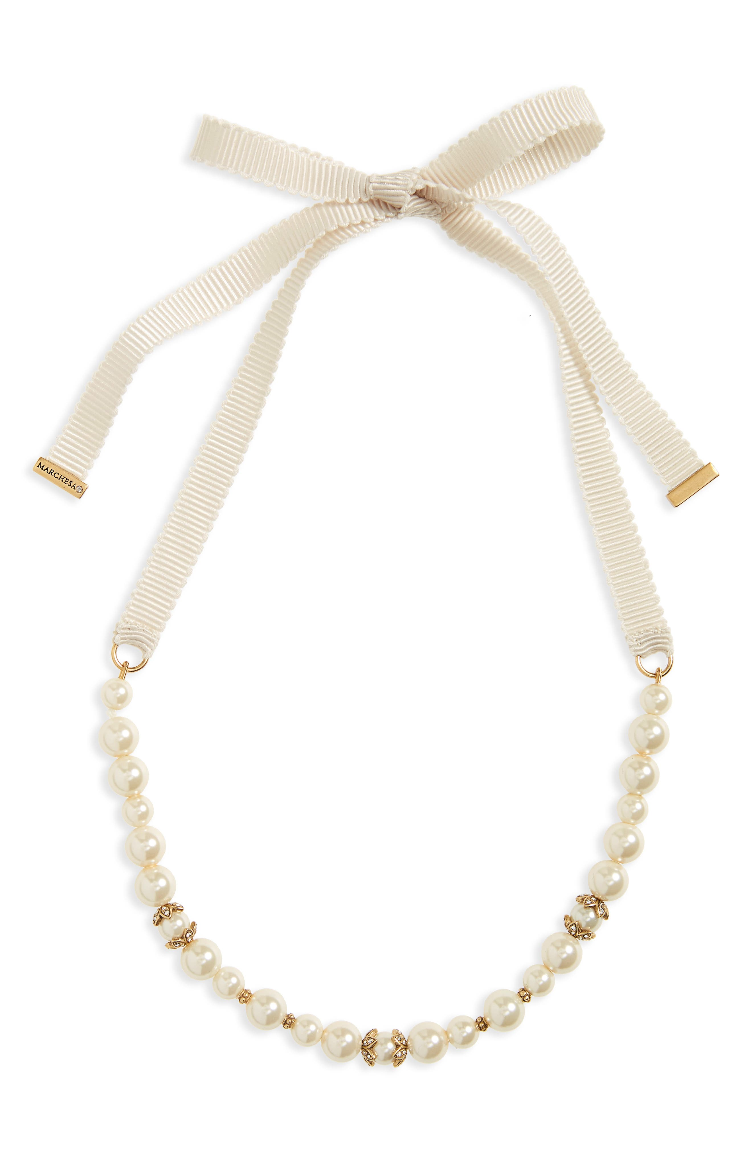 Adjustable Collar Necklace,                         Main,                         color, 100