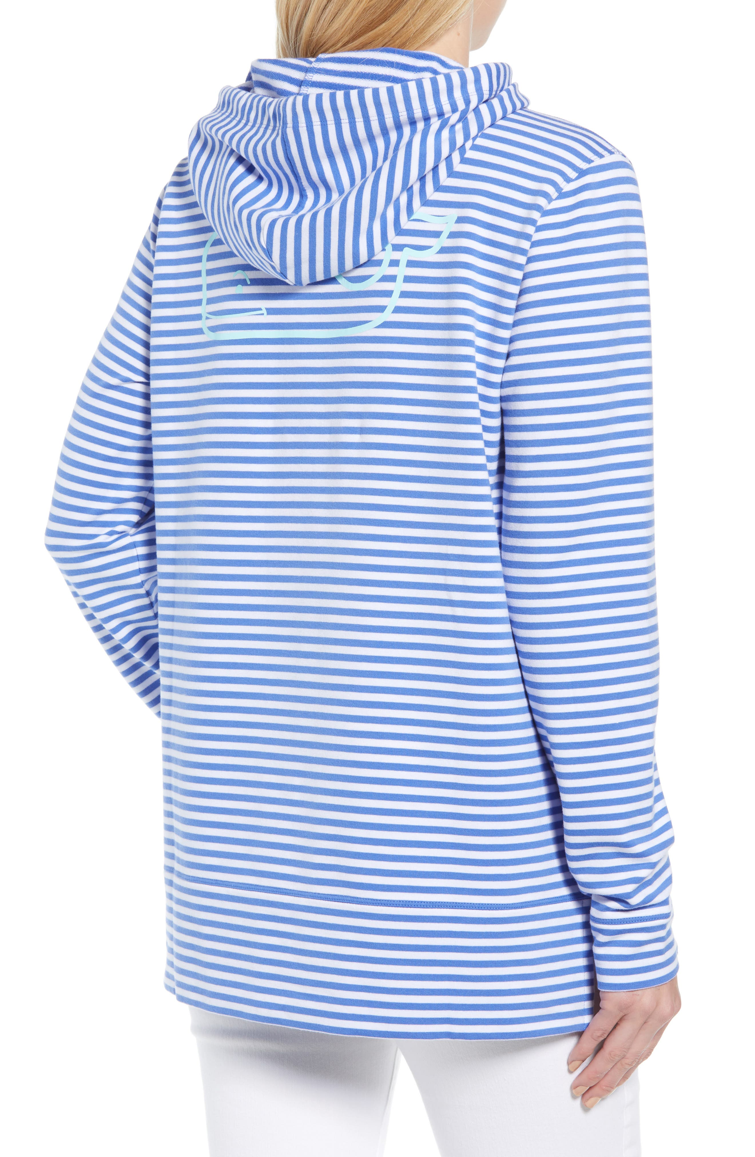 Stripe Whale Hoodie,                             Alternate thumbnail 2, color,                             477